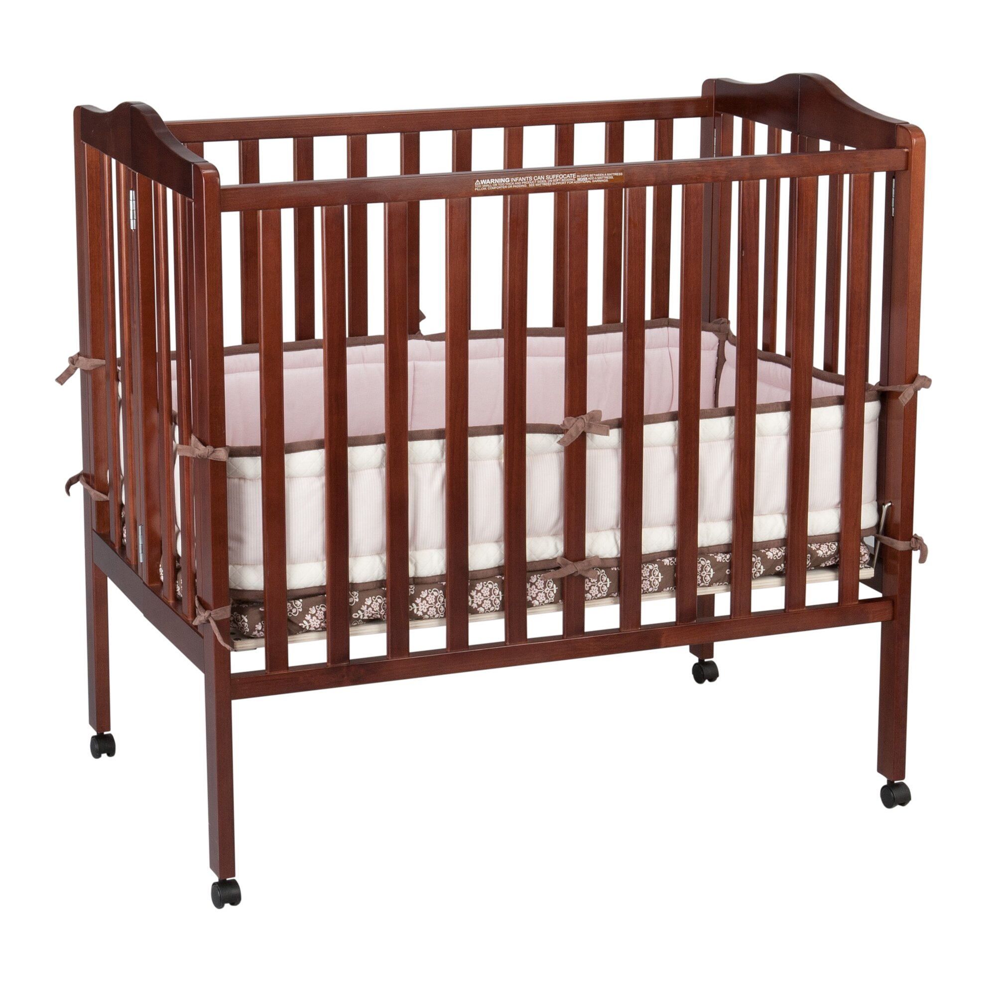 Delta Children Portable Mini Convertible Crib With