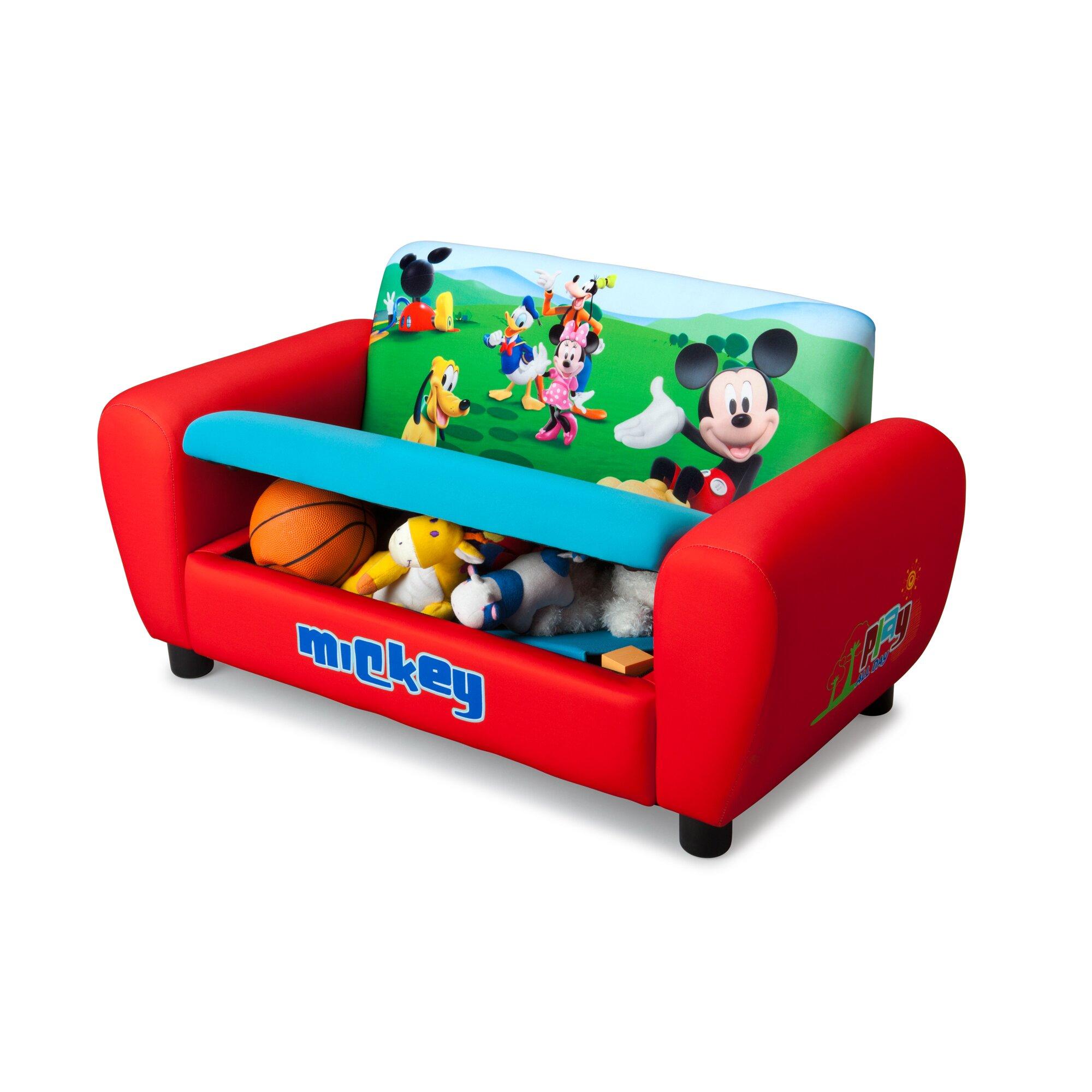 delta children disney mickey mouse kids sofa