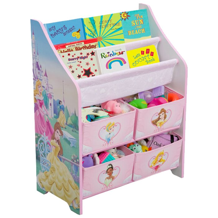 Paw Patrol Toy Organizer Bin Cubby Kids Child Storage Box: Delta Children Disney Princess Book & Toy Organizer