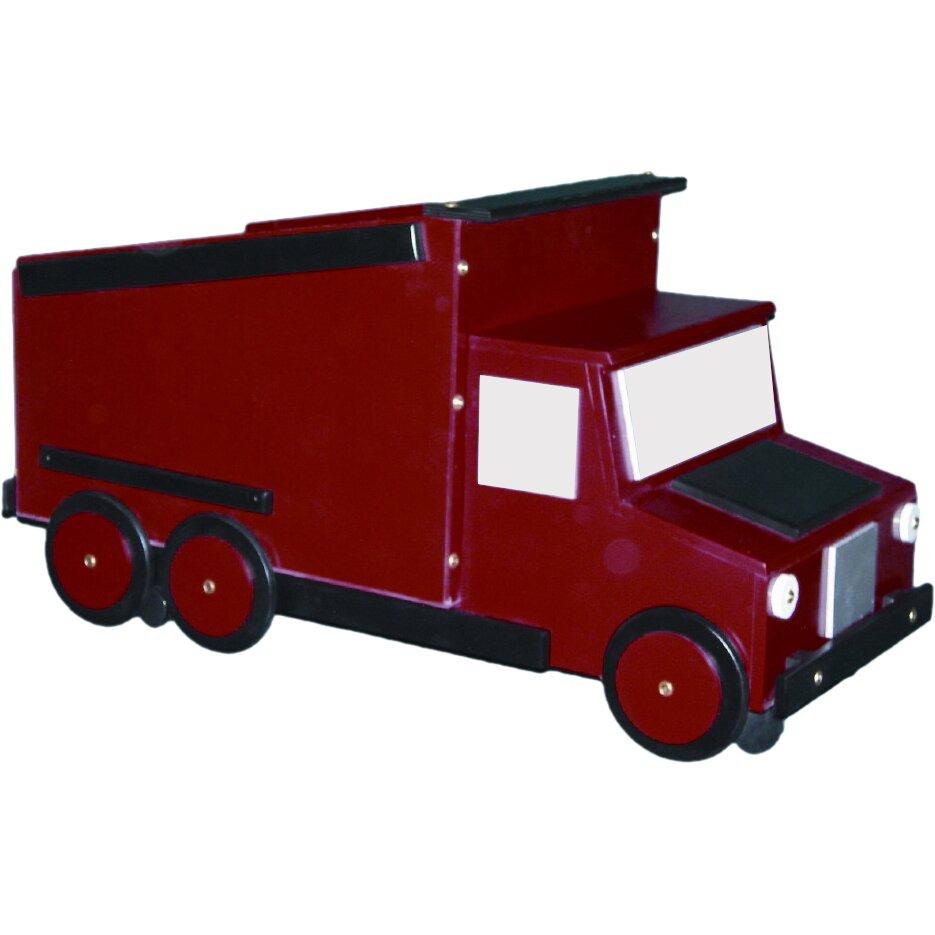 Just kids stuff dump truck toy box reviews wayfair - Kids dump truck bed ...