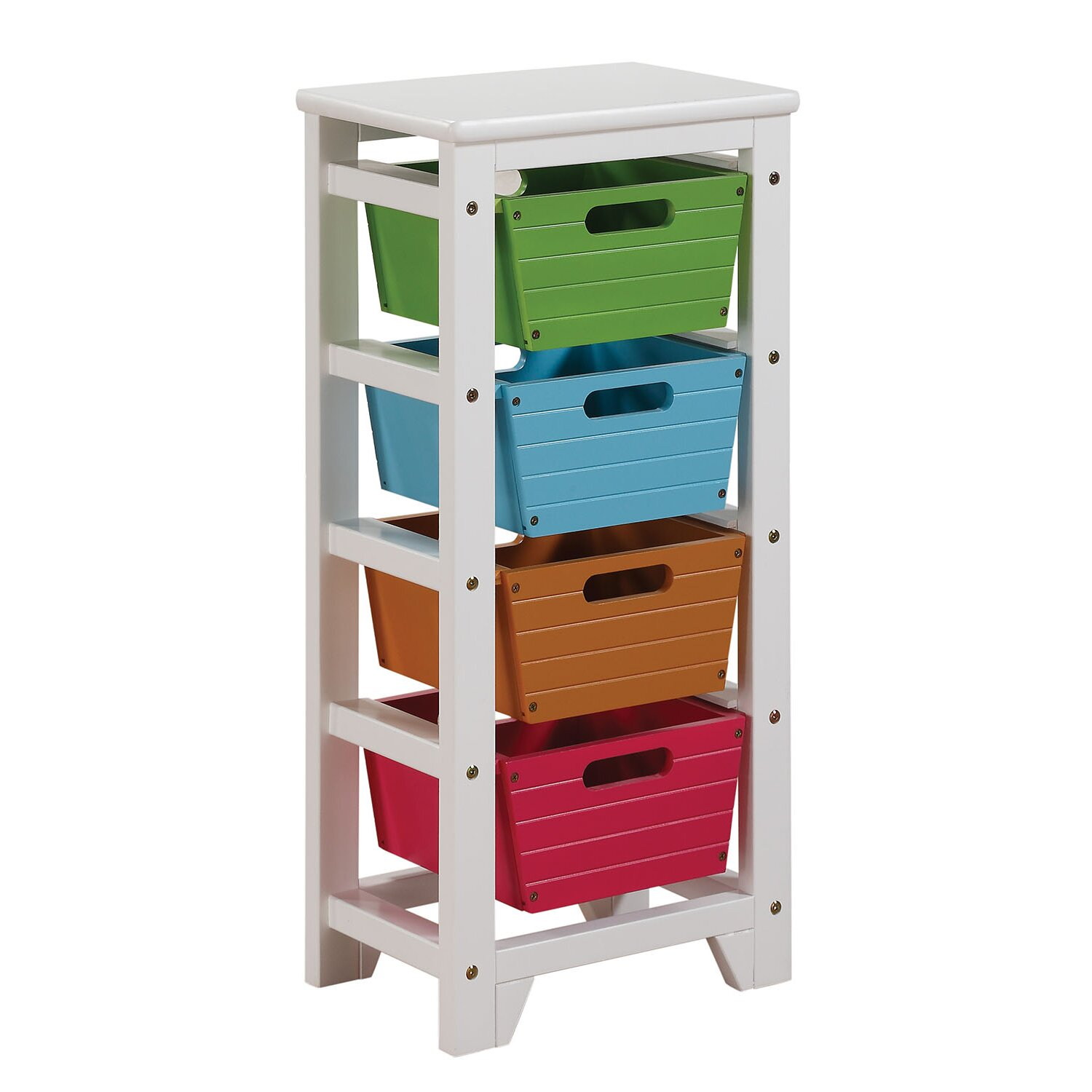 ACME Furniture Darvin Storage Rack with 4 Baskets