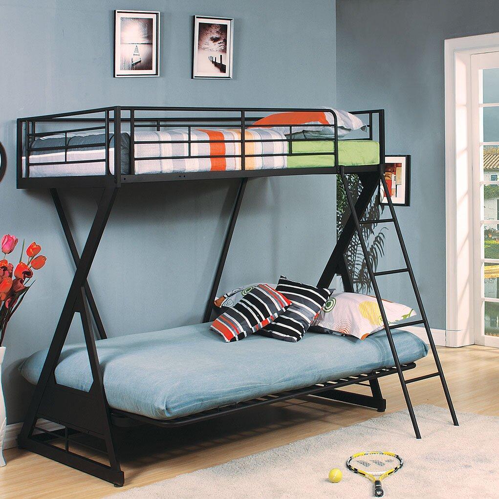 Acme Furniture Zazie Futon Bunk Bed Wayfair
