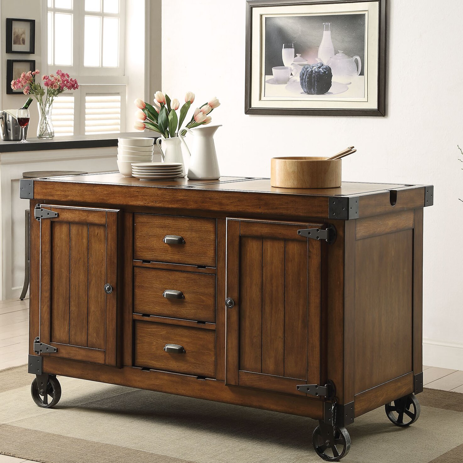kitchen islands and carts furniture acme furniture kabili kitchen cart wayfair 24833