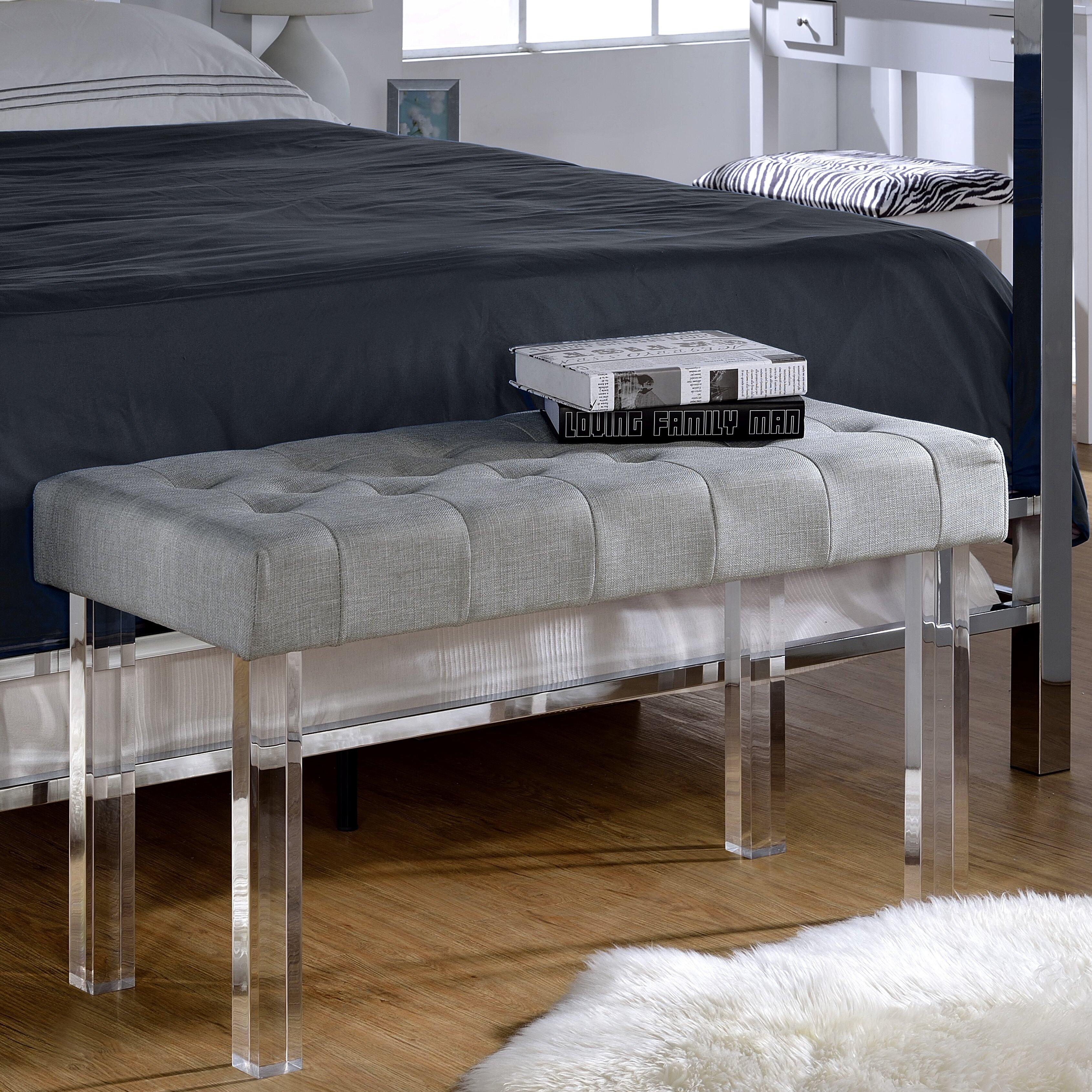 Acme Furniture Bagley Upholstered Bedroom Bench Wayfair