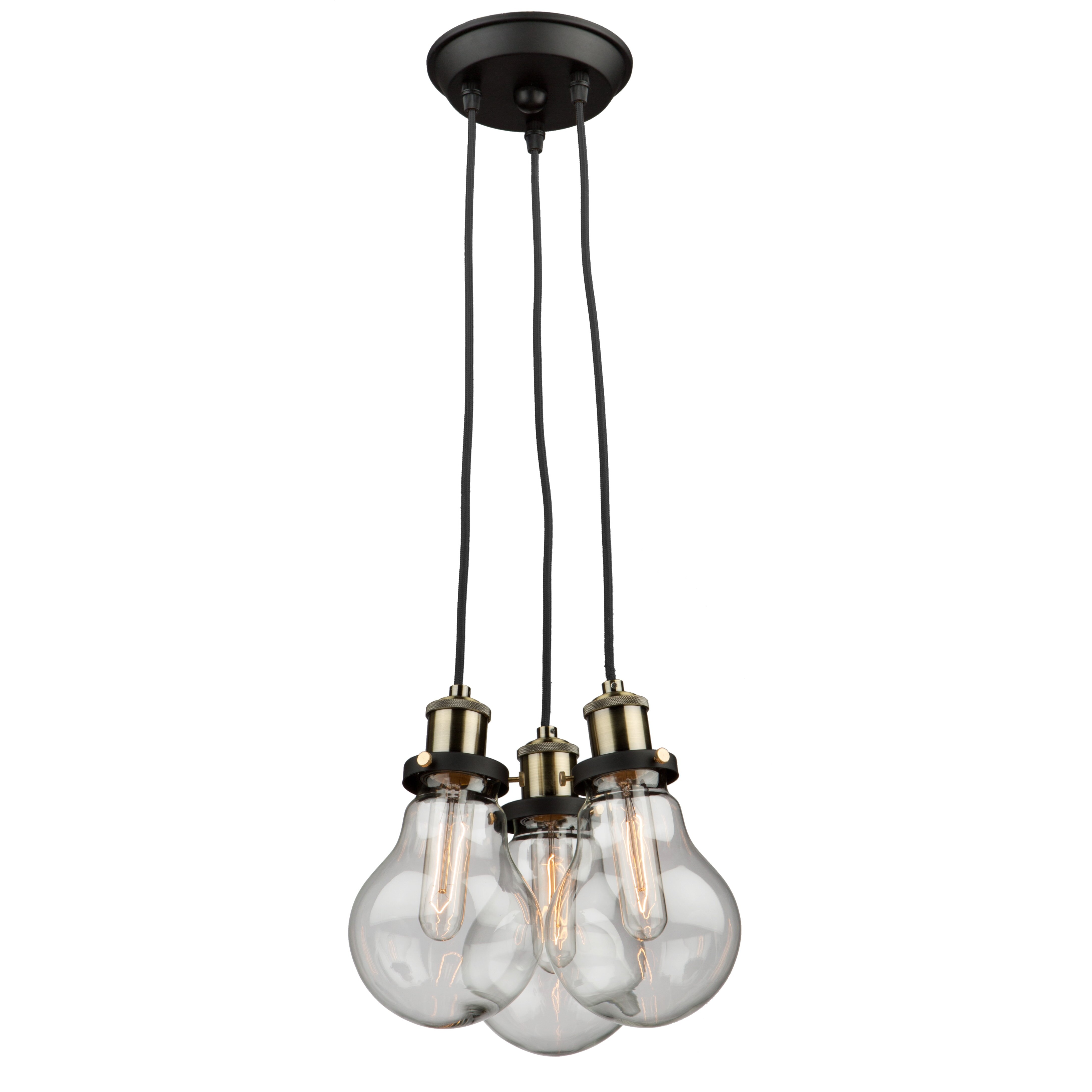Dining Room Pendant Light Artcraft Lighting Edison 3 Light Cluster Pendant Wayfair