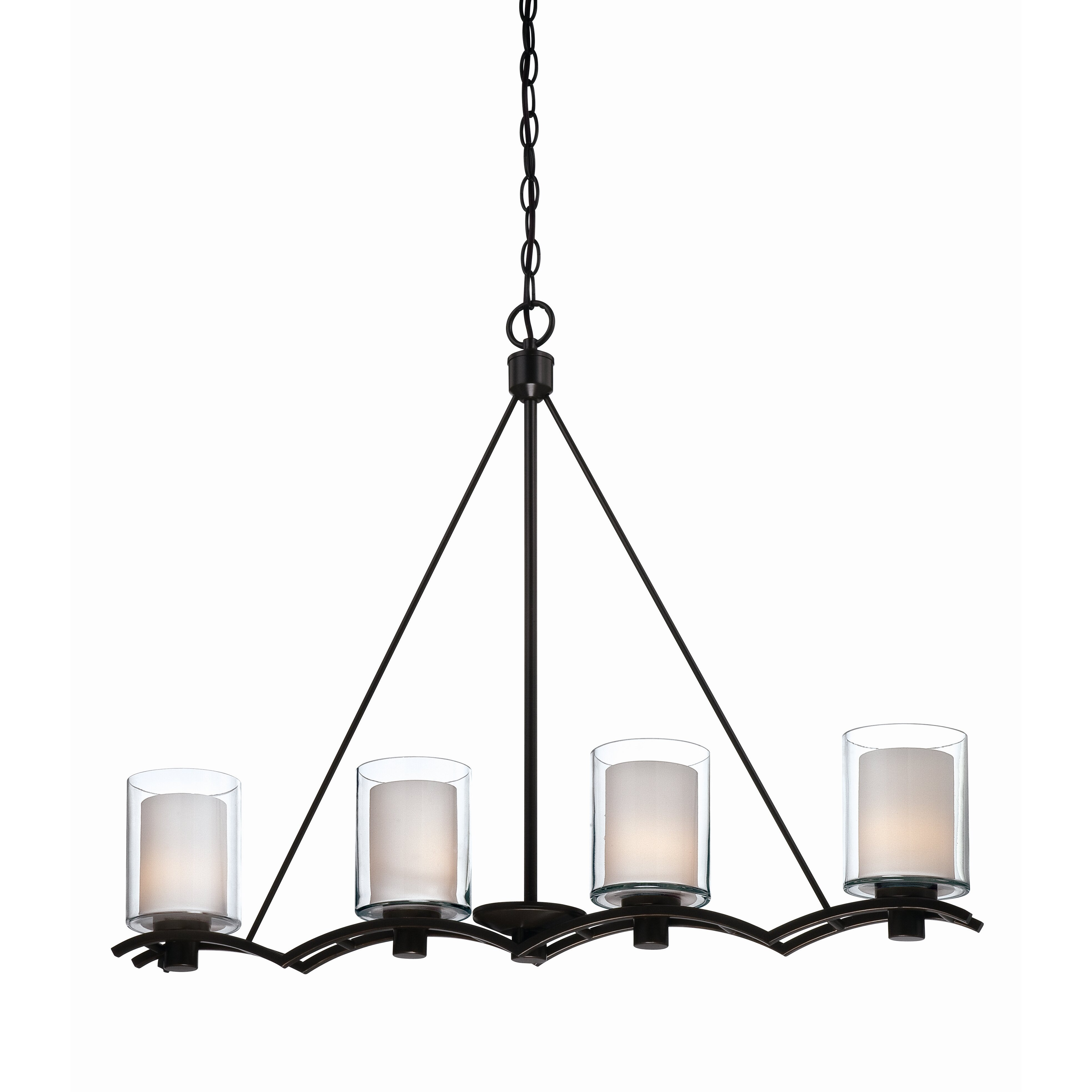 Artcraft Lighting Andover 4 Light Kitchen Island Pendant  Reviews  Wayfair