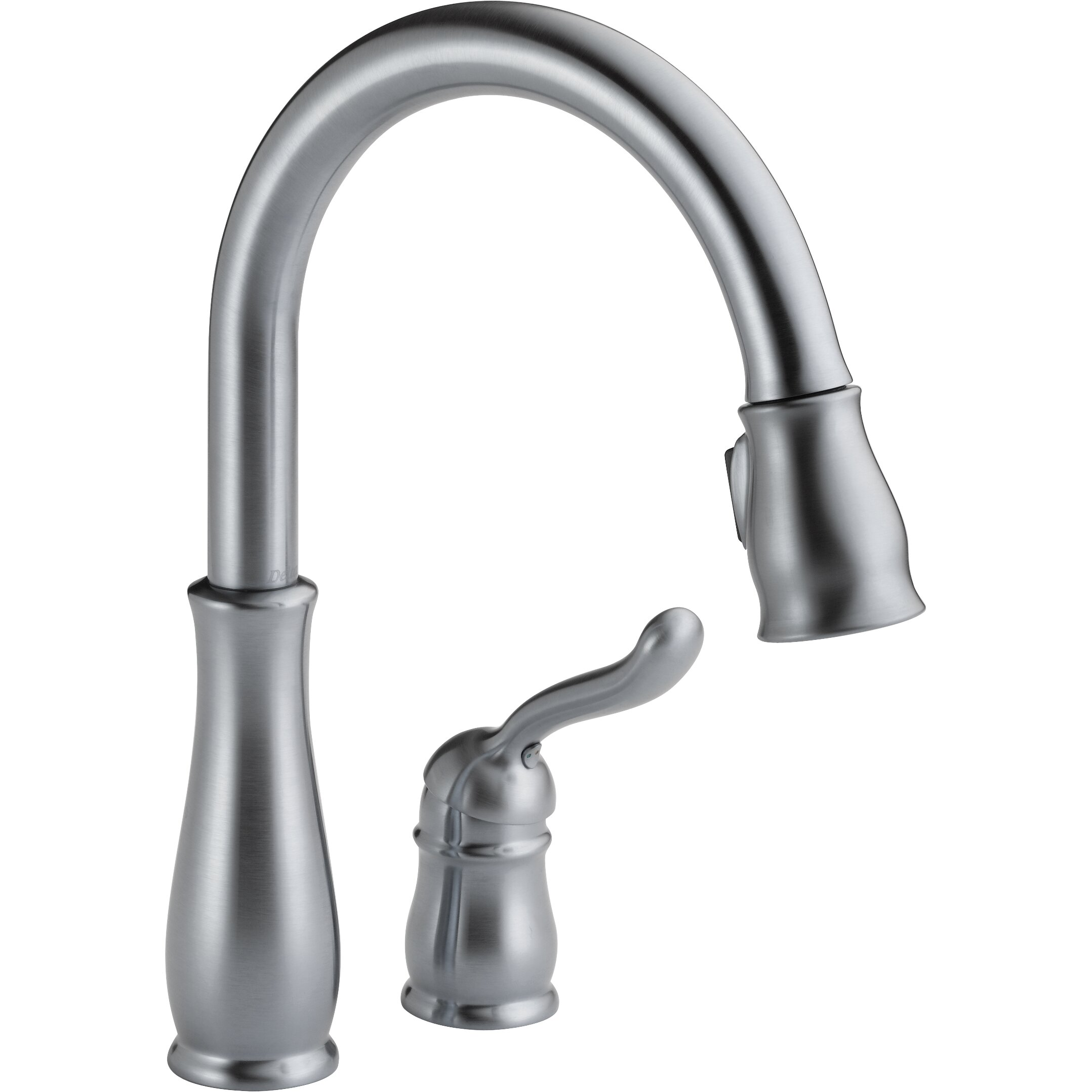 Delta Leland Single Handle Pull Down Standard Kitchen Faucet Reviews Wayfair
