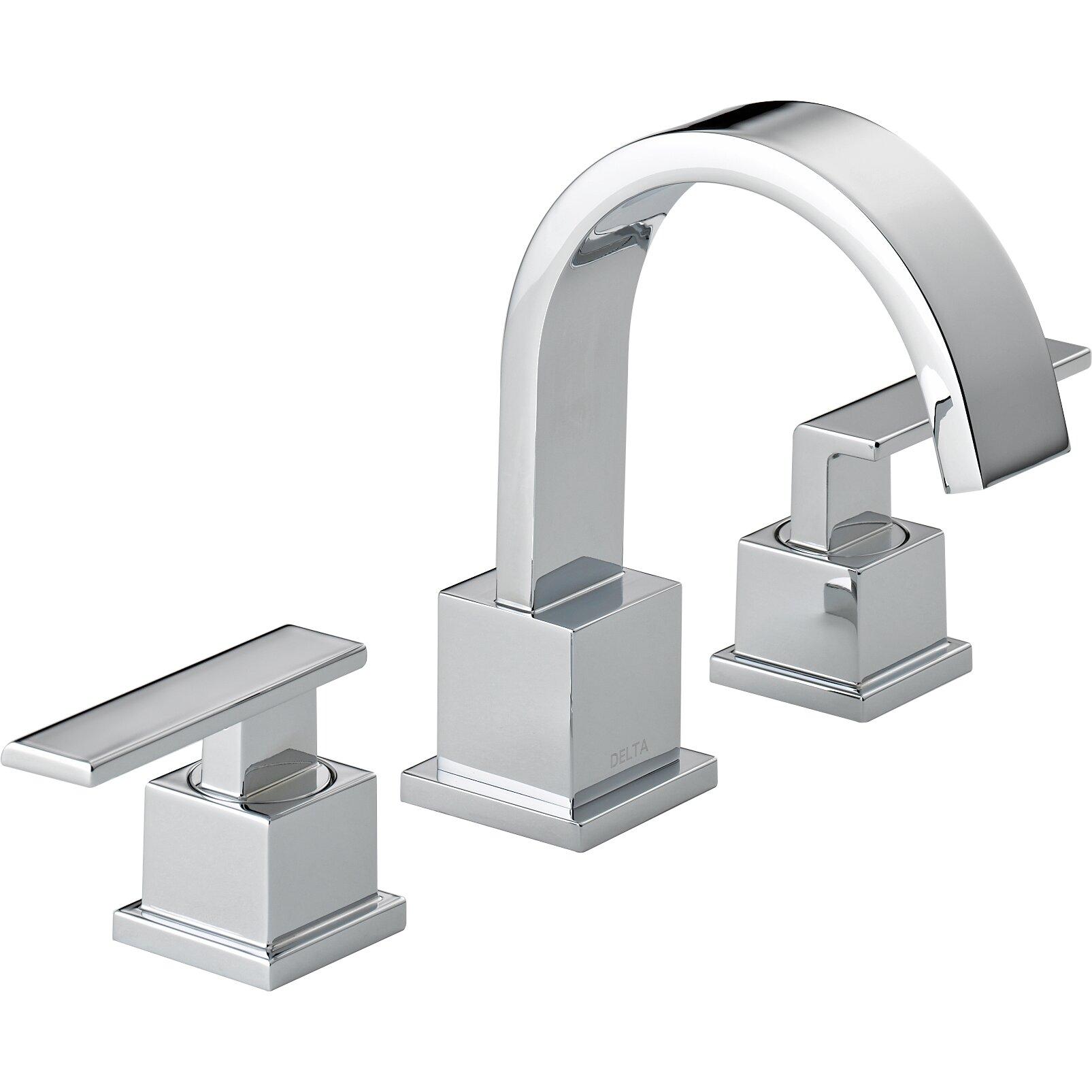Delta Foundations 35996lf Bn Two Handle Widespread: Delta Vero Two Handle Widespread Bathroom Faucet & Reviews