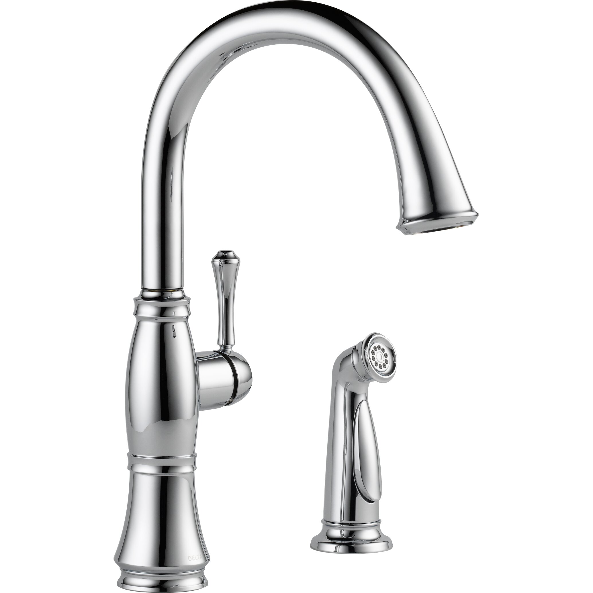 delta faucets for kitchen delta cassidy single handle standard kitchen faucet with spray reviews wayfair 329