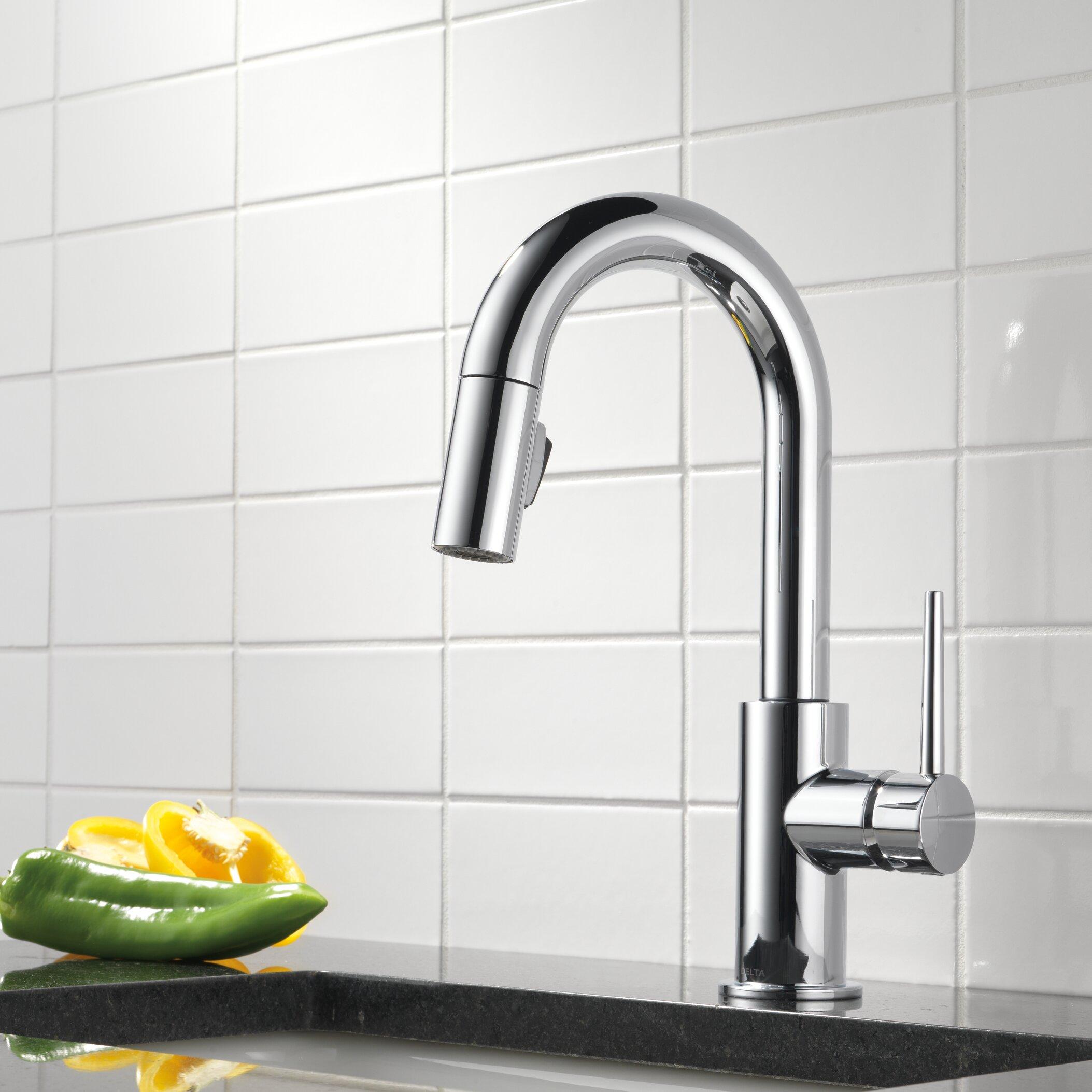 Delta Trinsic 174 Single Handle Deck Mounted Kitchen Faucet