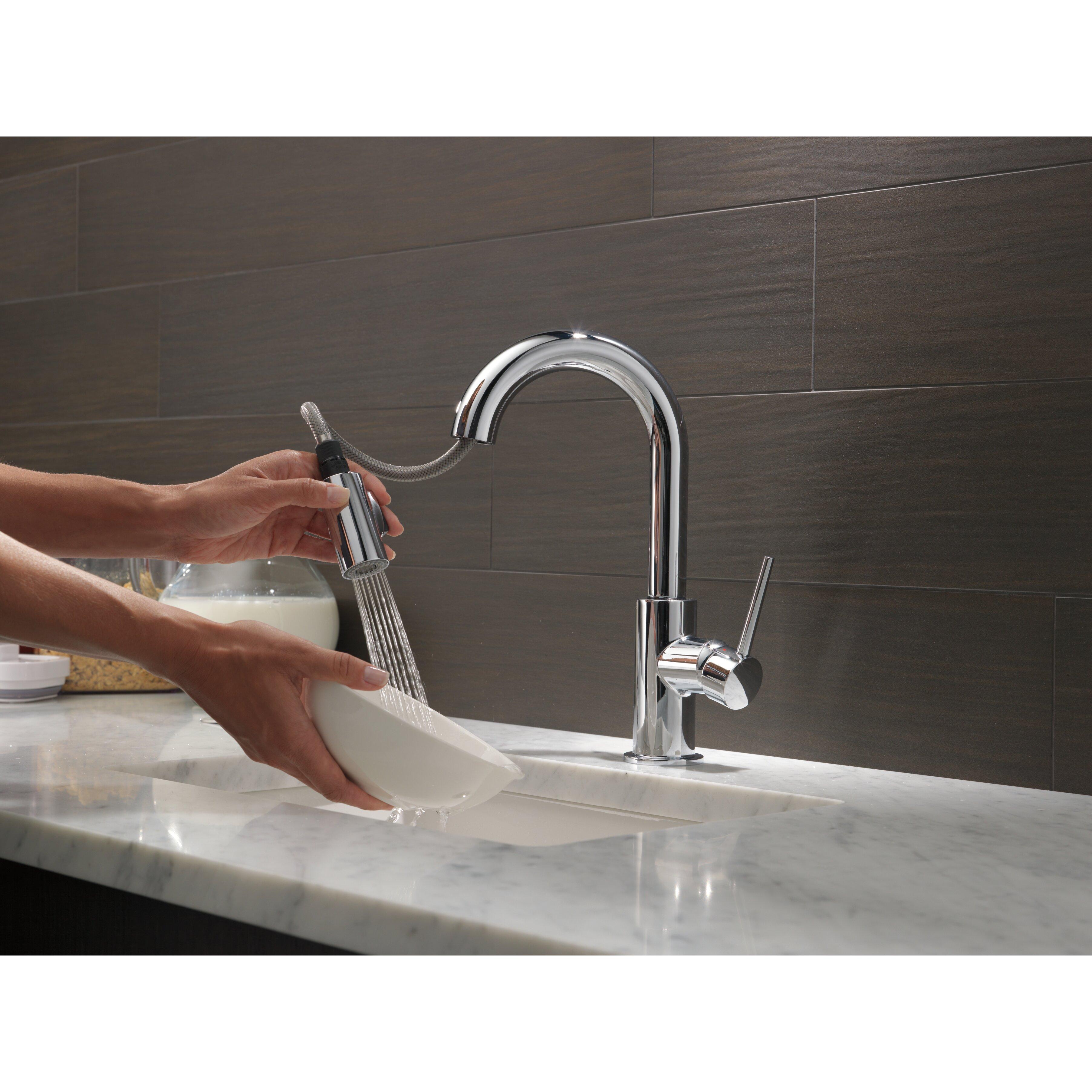 delta trinsic 174 single handle pull down standard kitchen
