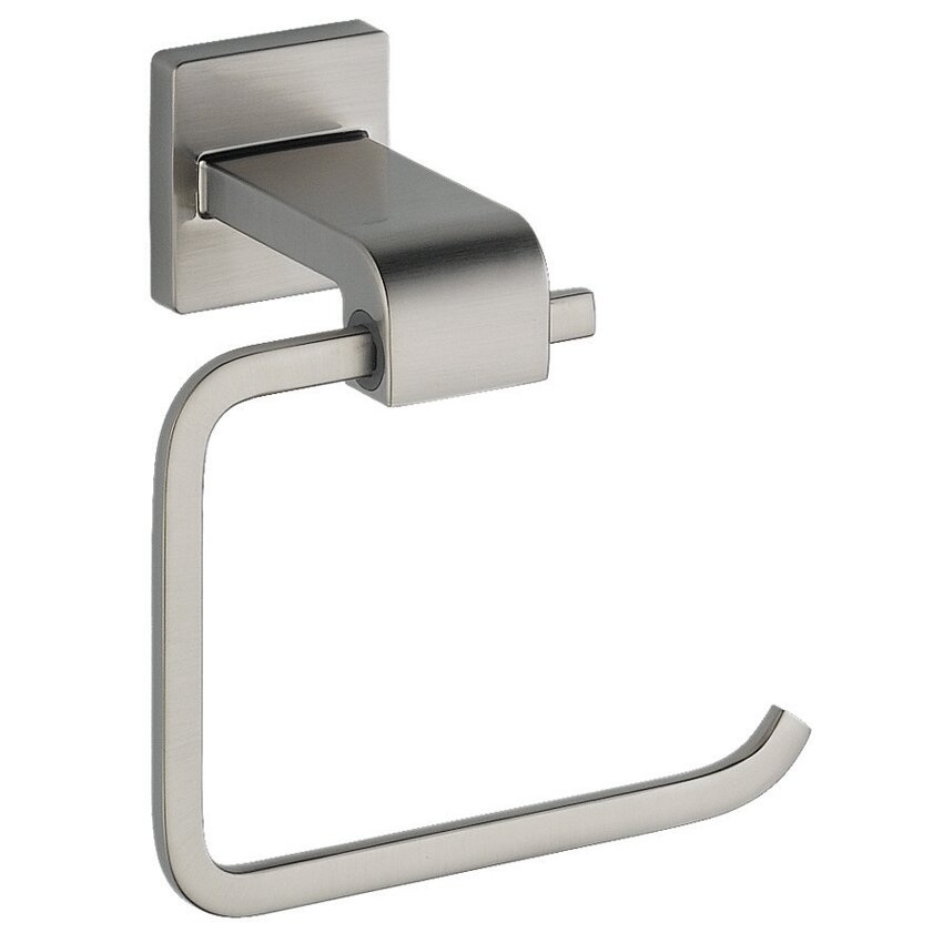 delta arzo wall mounted toilet paper holder reviews wayfair. Black Bedroom Furniture Sets. Home Design Ideas