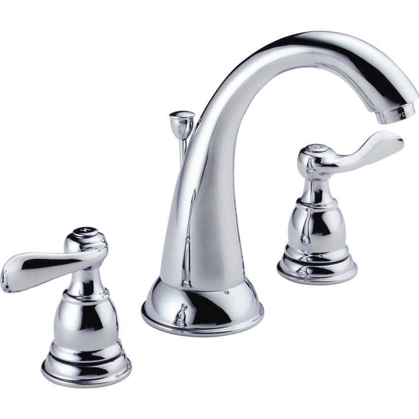 delta windemere widespread bathroom faucet with