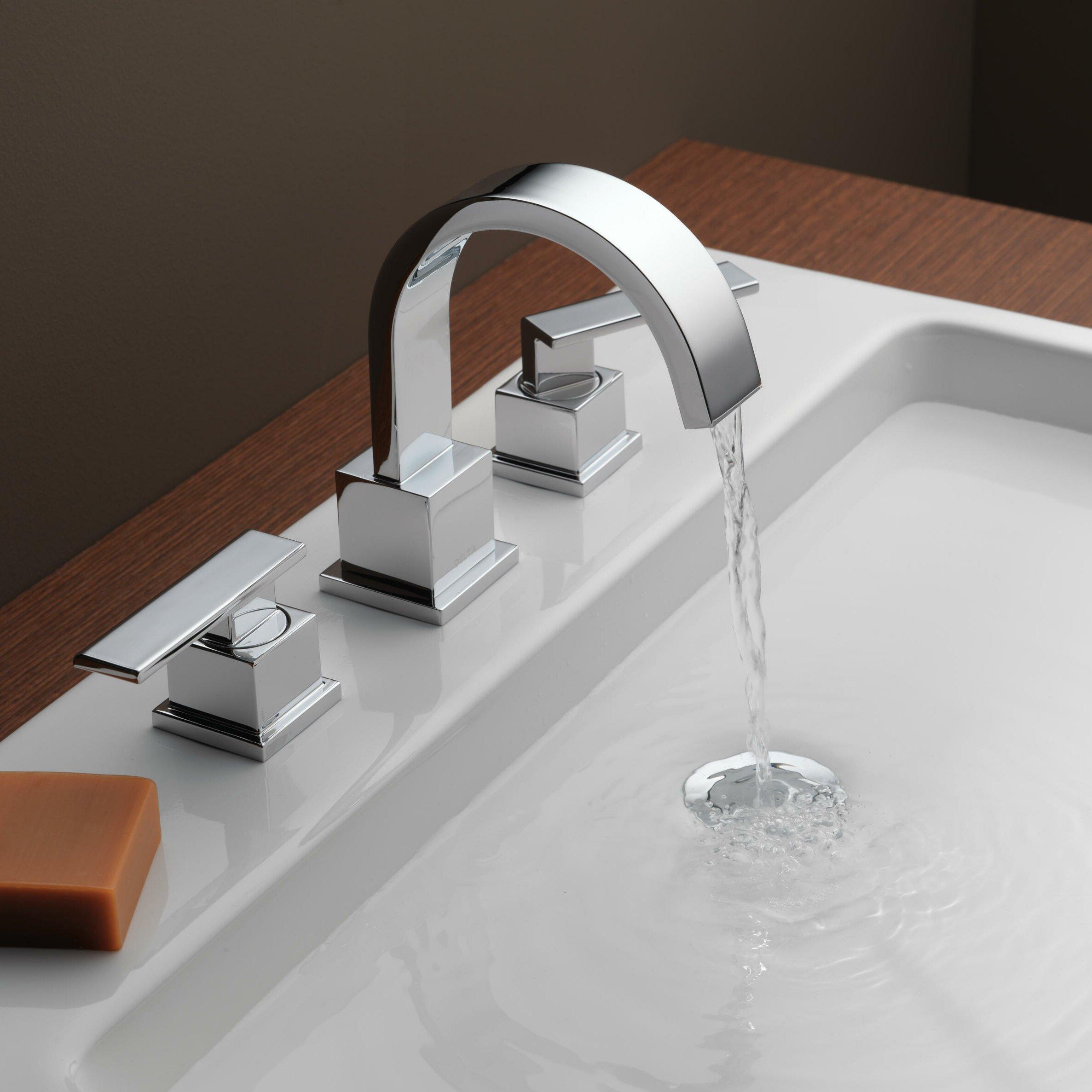 Delta vero two handle widespread bathroom faucet reviews wayfair for Bathroom sink faucets reviews
