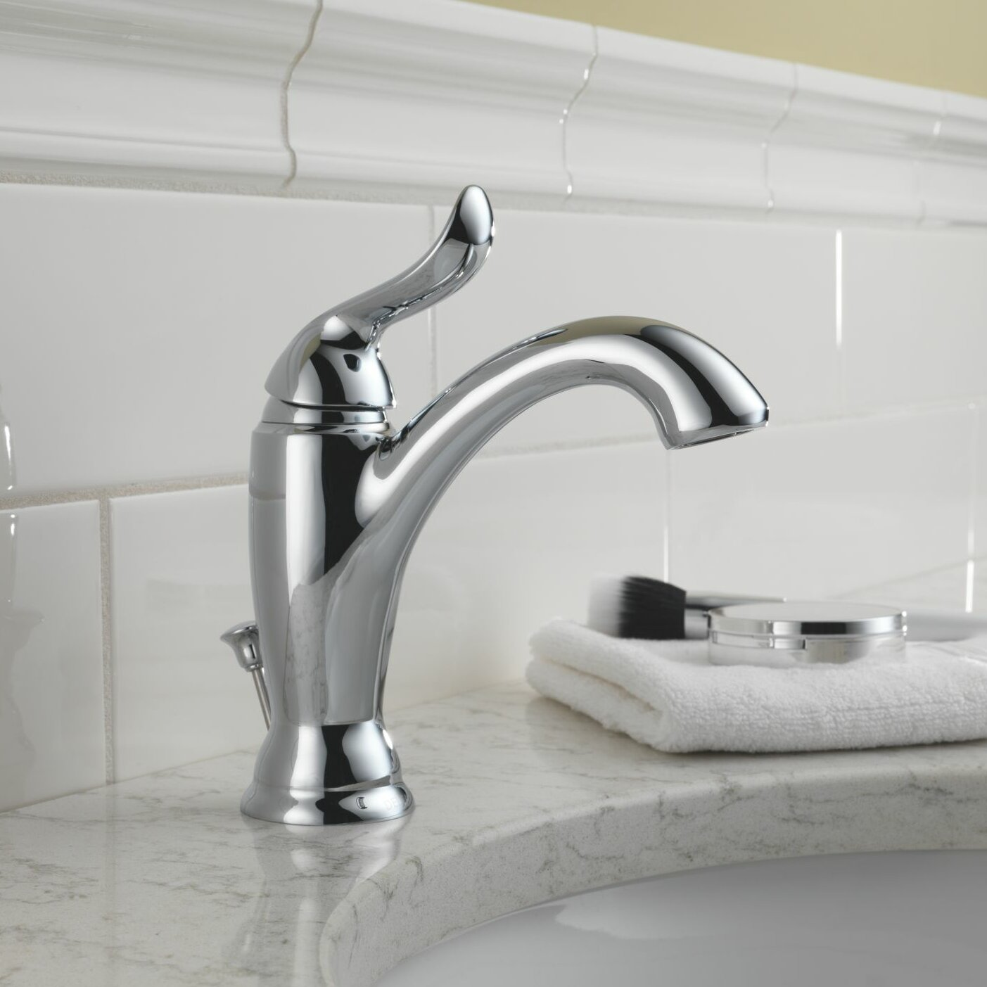 Delta Linden Standard Bathroom Faucet Lever Handle With Drain Assembly Reviews