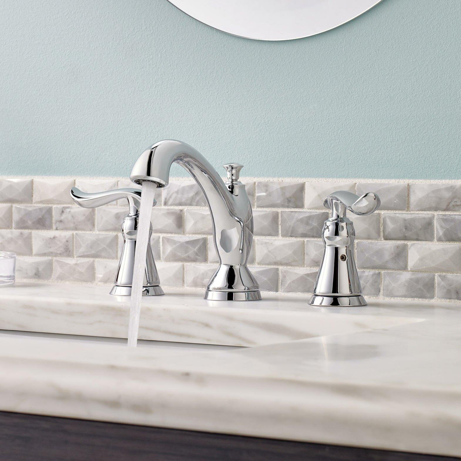 Delta Linden Double Handle Widespread Bathroom Faucet Reviews Wayfair