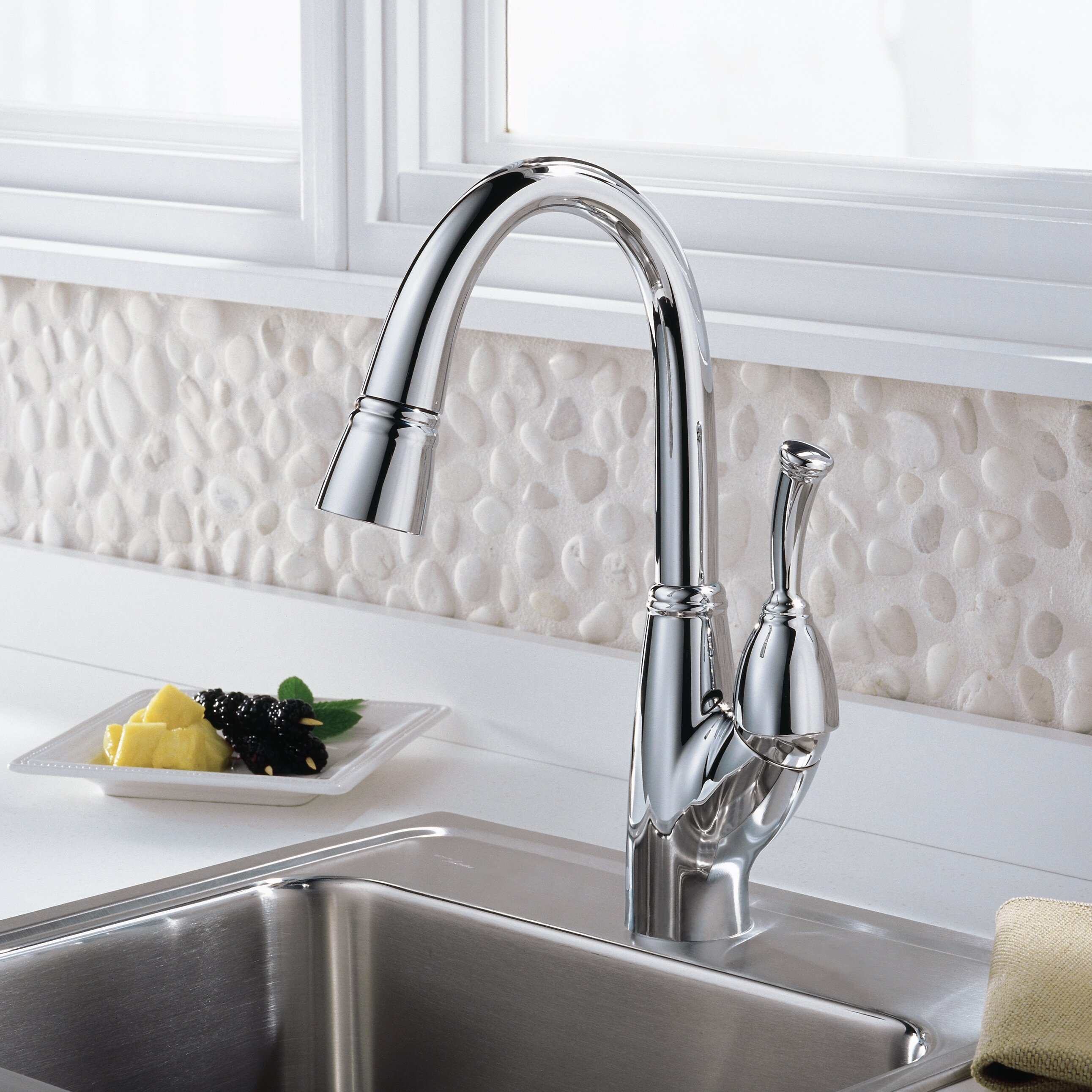 delta allora touchless single handle deck mounted bar a 710 bn single handle brushed nickel kitchen faucet