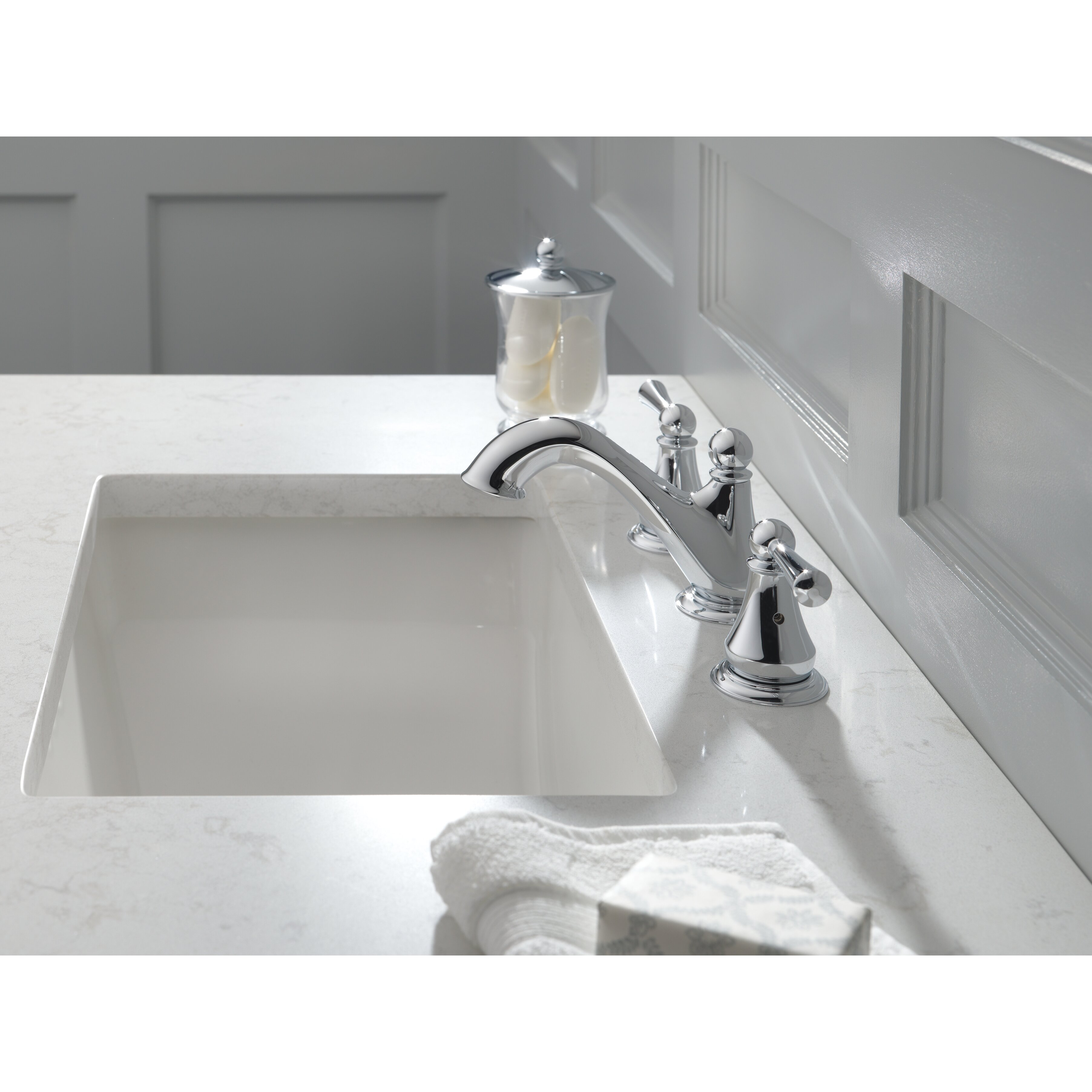 Delta Haywood Double Handle Widespread Bathroom Faucet Reviews Wayfair