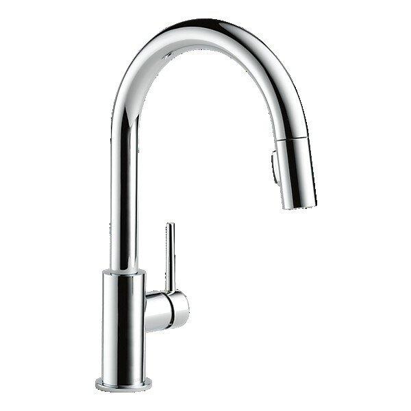 Delta Trinsic Kitchen 15 Single Handle Pull Down Standard Kitchen Faucet Reviews Wayfair