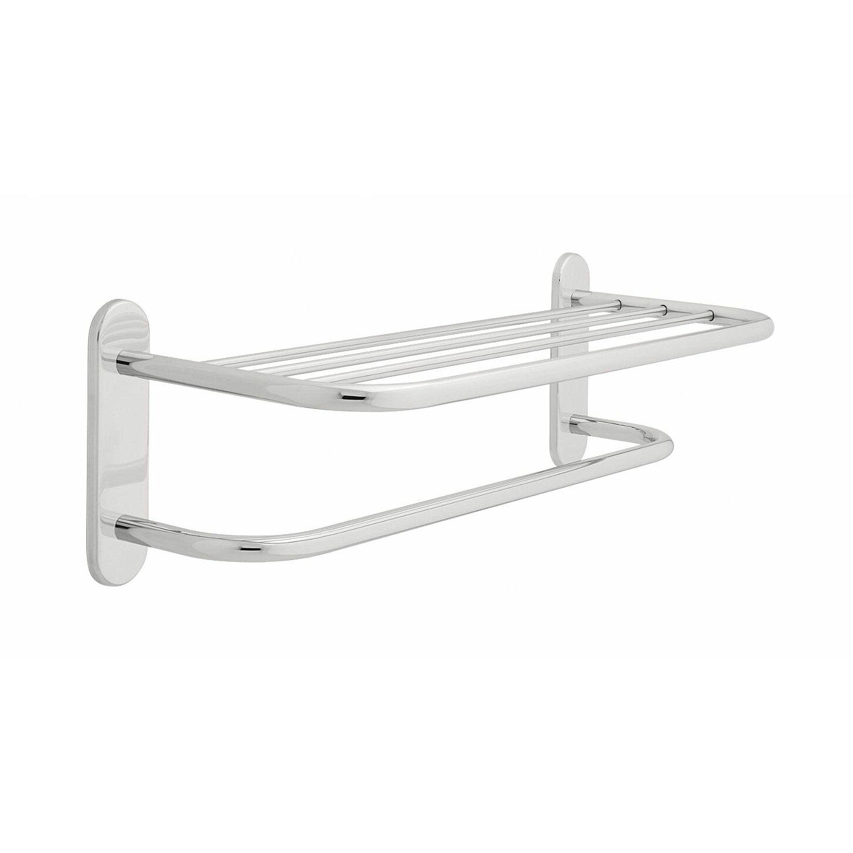 delta wall mounted towel shelf reviews wayfair. Black Bedroom Furniture Sets. Home Design Ideas
