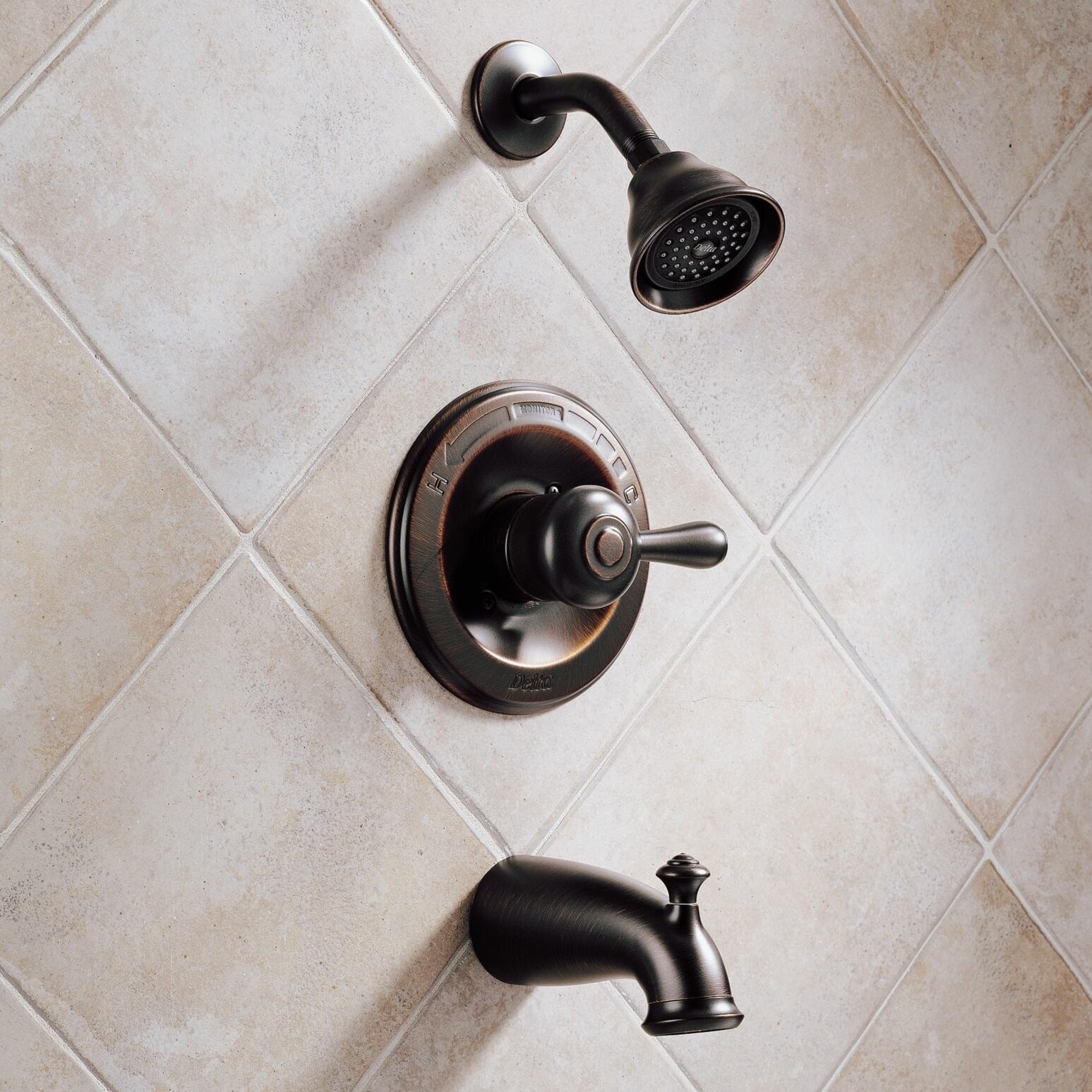 Delta Leland Pressure Balanced Diverter Tub And Shower Faucet Trim Reviews Wayfair