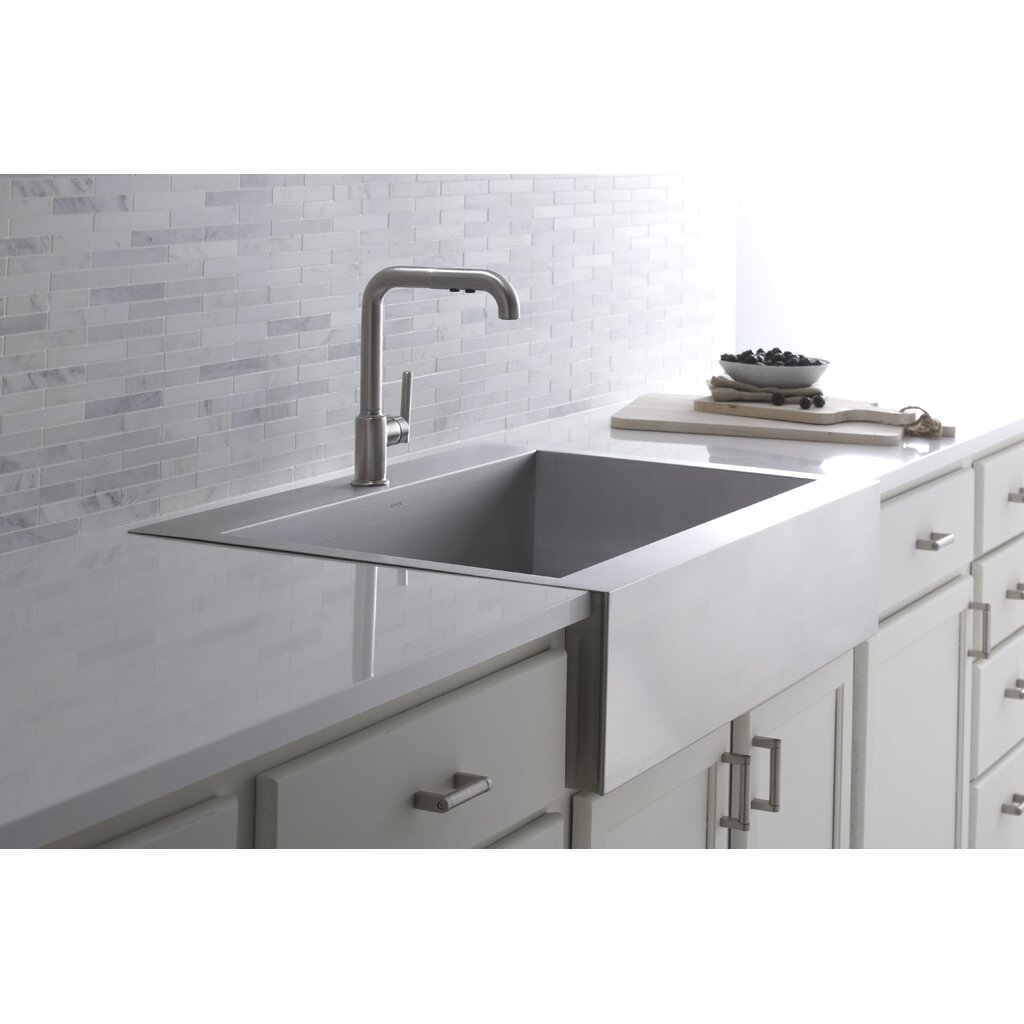 kohler single basin kitchen sink kohler vault 35 3 4 quot x 24 5 16 quot x 9 5 16 quot top mount single 8821