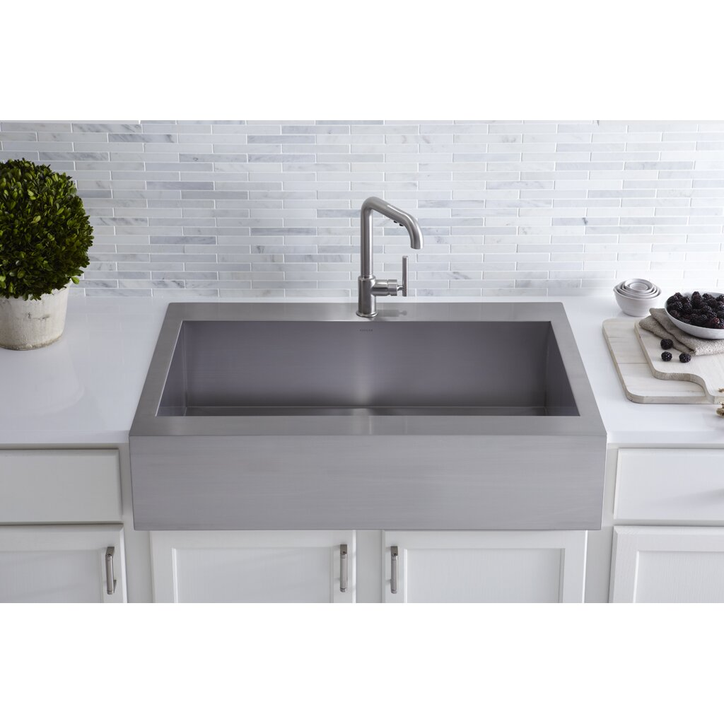 24 Inch Stainless Steel Farmhouse Sink : Cool Kitchen Sink Retailers Tiny Kohler Stainless Steel Kitchen Sinks ...