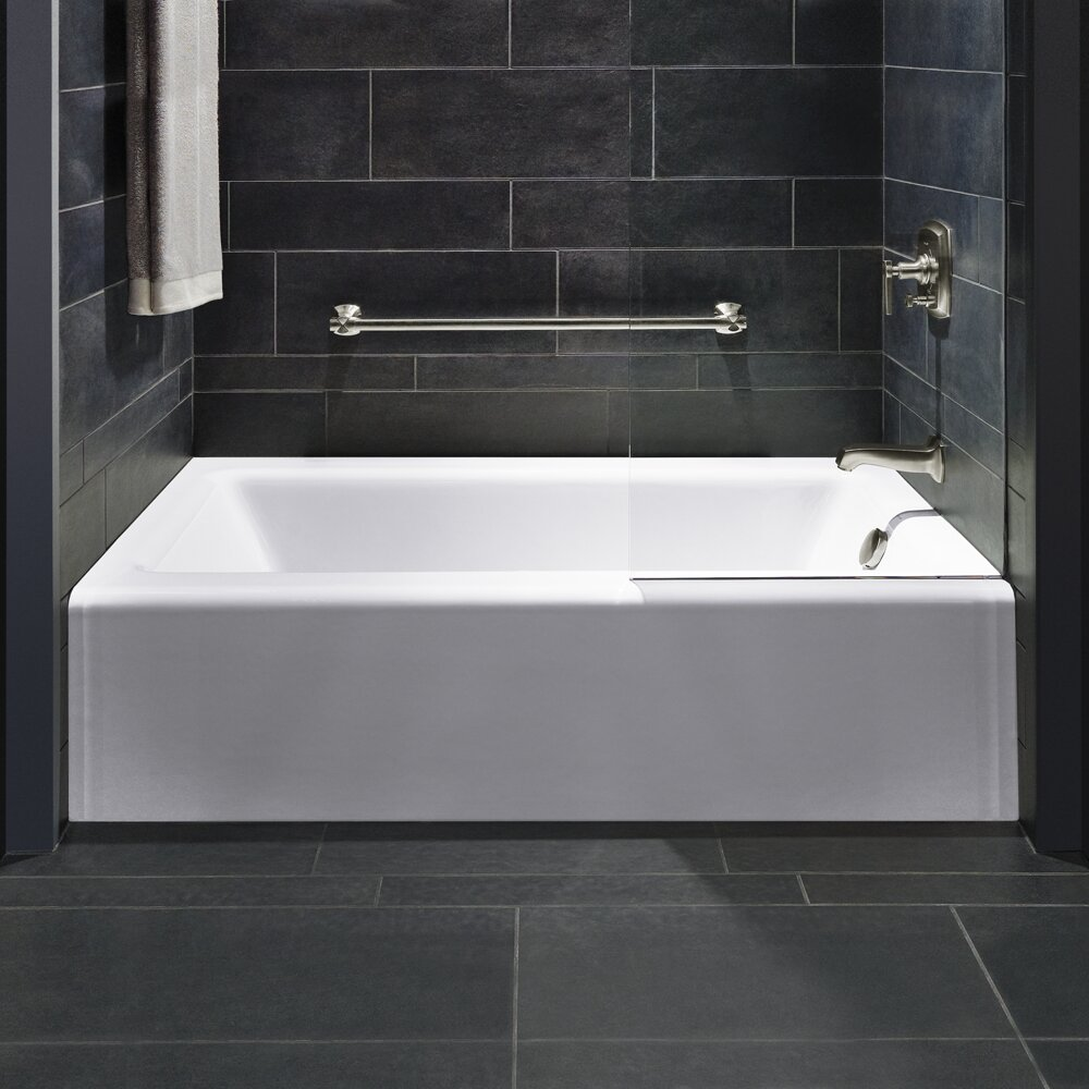 Kohler bellwether 60 x 32 soaking bathtub reviews for Restroom tub