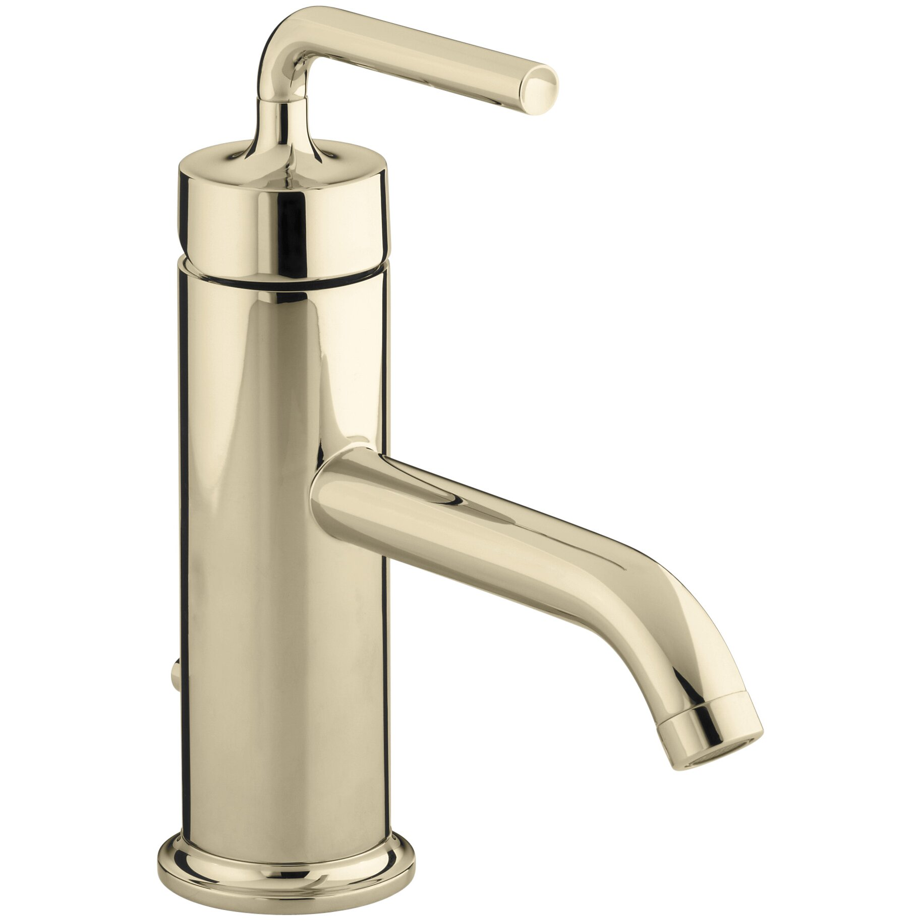 Kohler Purist Single-Hole Bathroom Sink Faucet with Straight Lever ...