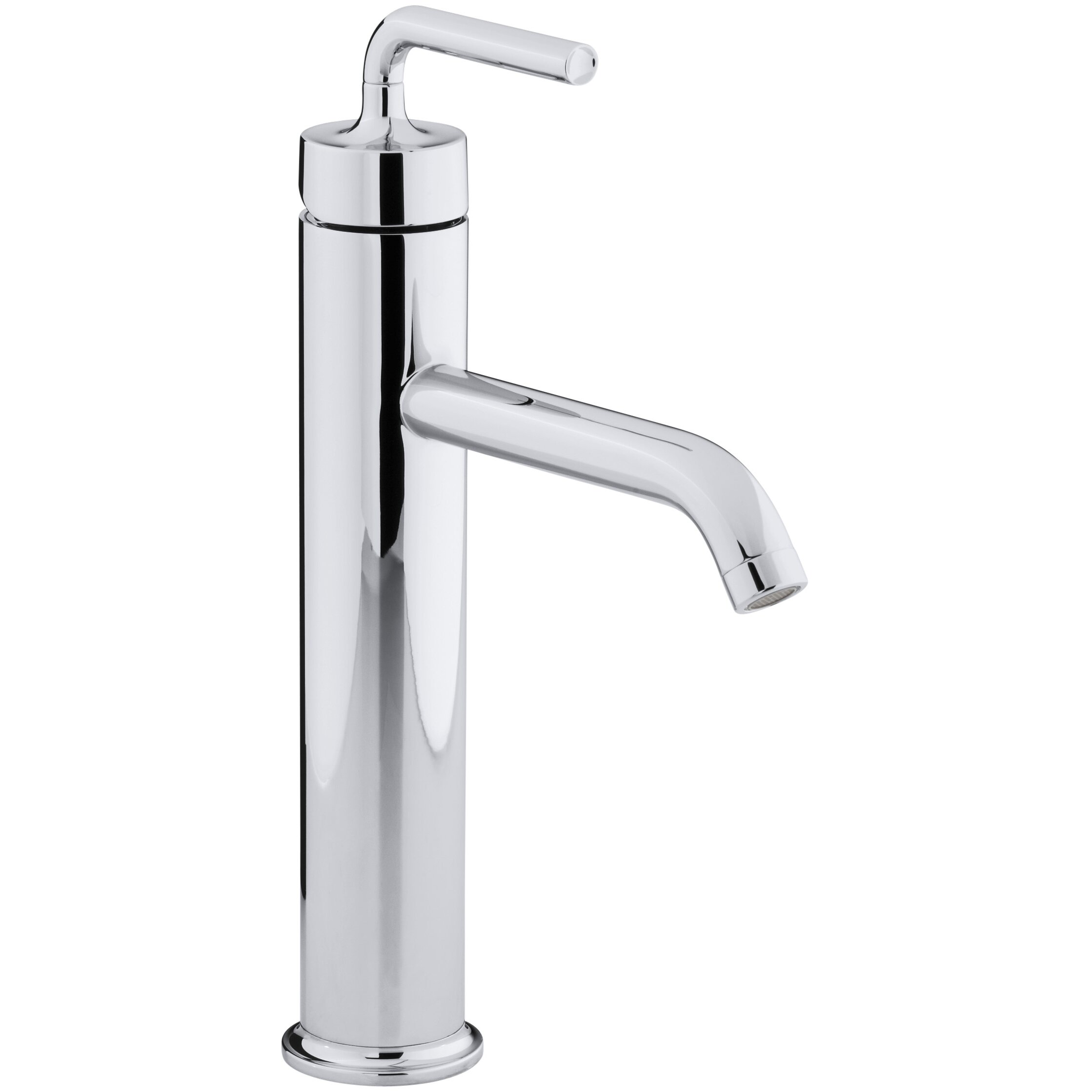 Kohler Purist Tall Single Hole Bathroom Sink Faucet With Straight Lever Handle Reviews