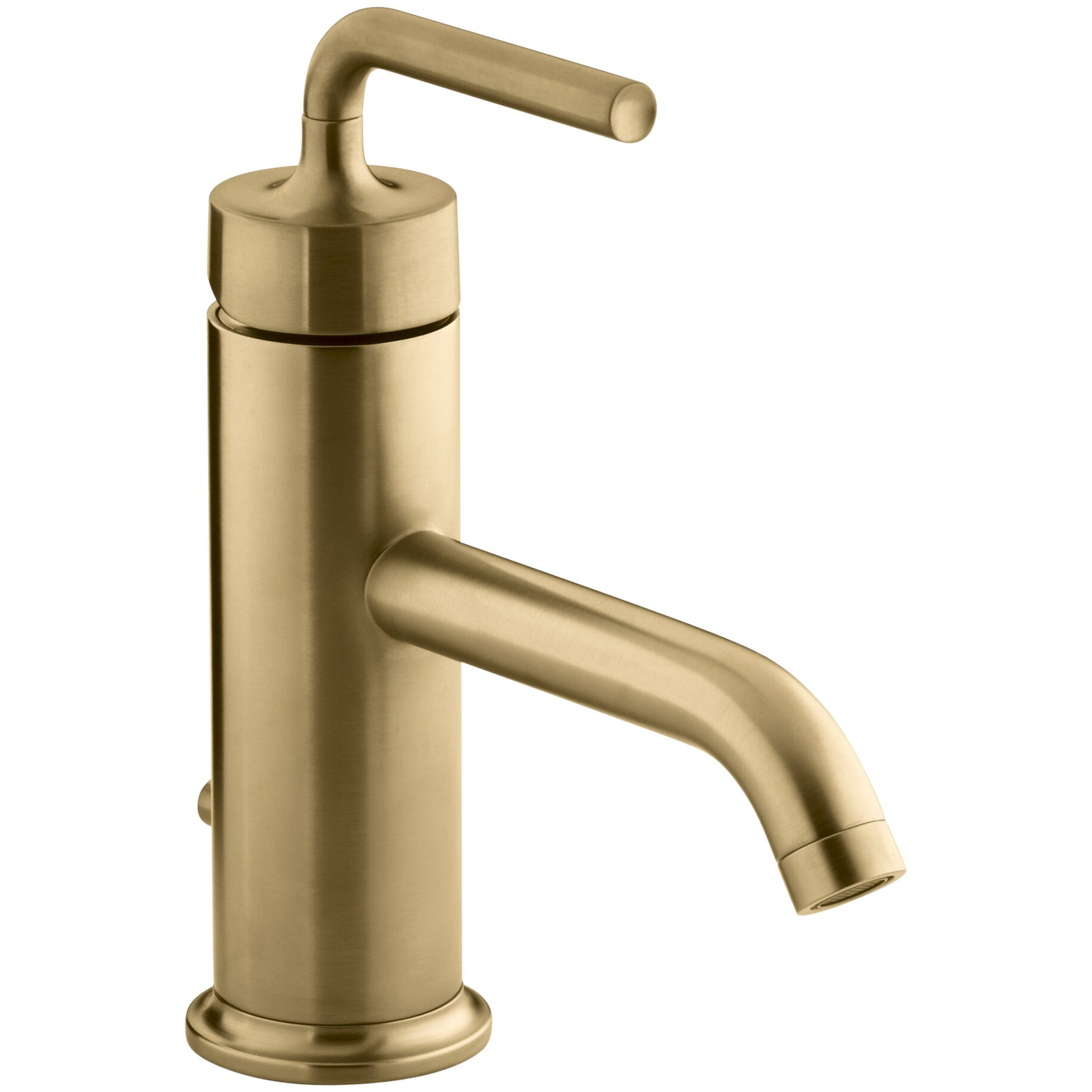 single hole bathroom sink faucet with straight lever handle by kohler