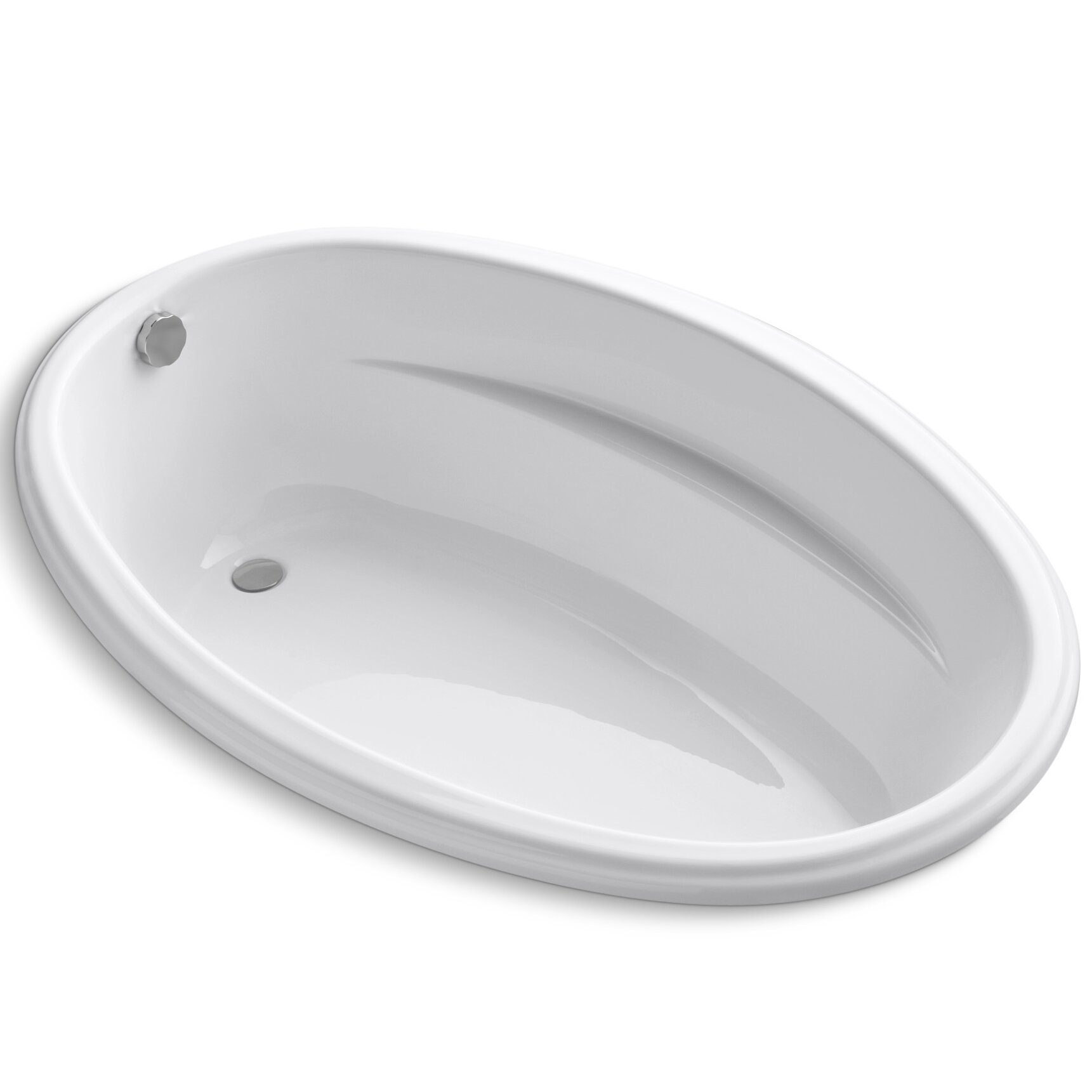 kohler proflex 60 x 40 soaking bathtub reviews wayfair. Black Bedroom Furniture Sets. Home Design Ideas