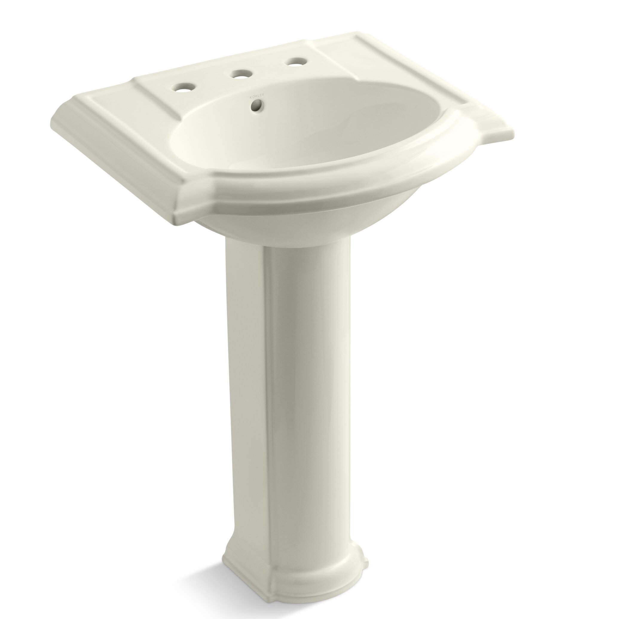 Kohler devonshire 24 pedestal bathroom sink reviews wayfair - Kohler devonshire reviews ...