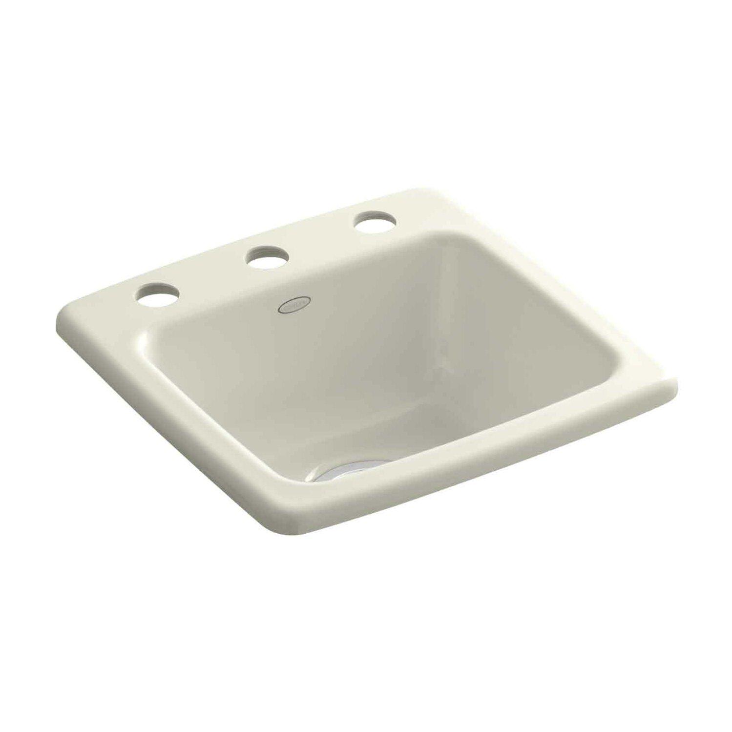 Biscuit Kitchen Faucet Kohler Gimlet Top Mount Bar Sink Amp Reviews Wayfair