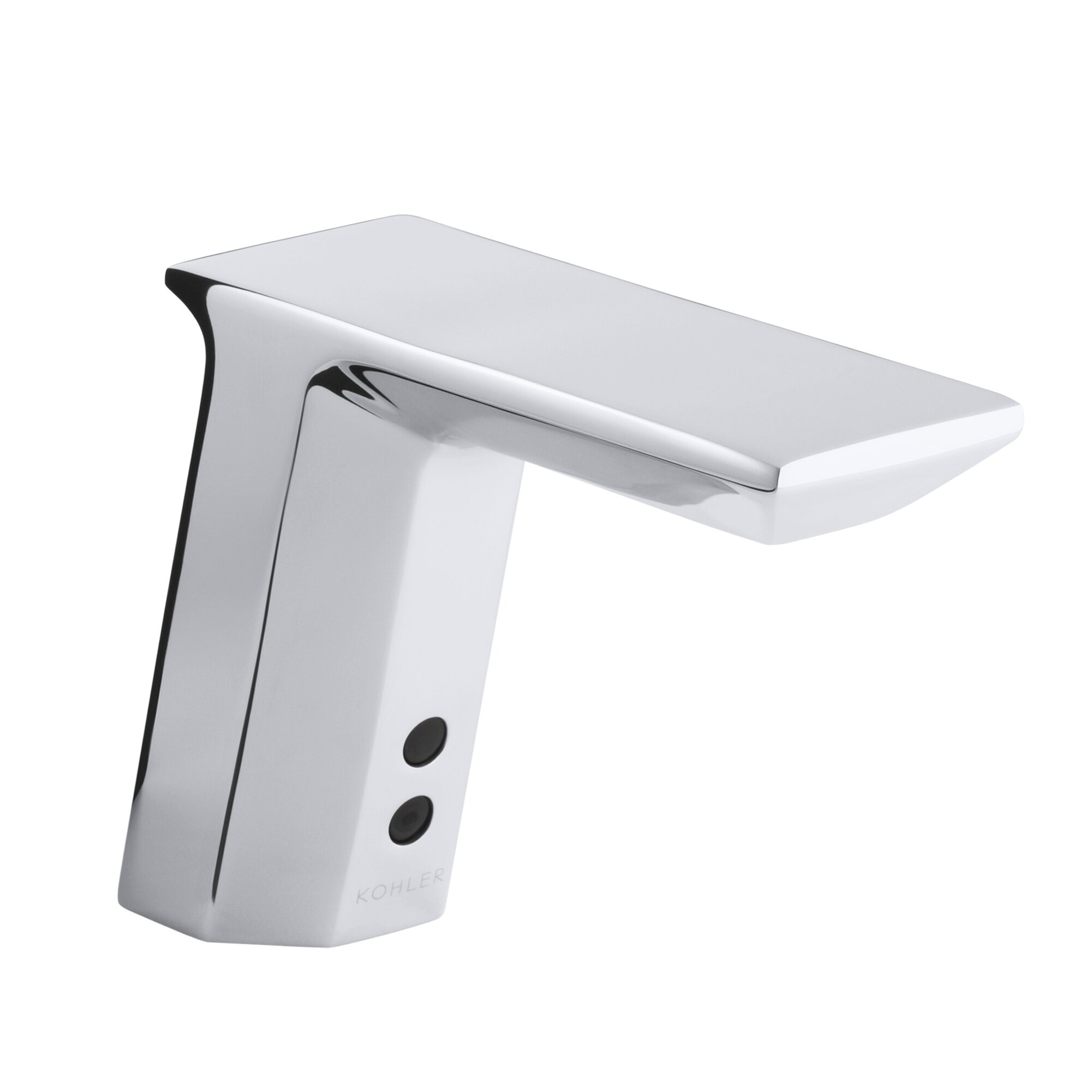 Geometric Single-Hole Touchless Ac-Powered Commercial Bathroom Sink ...