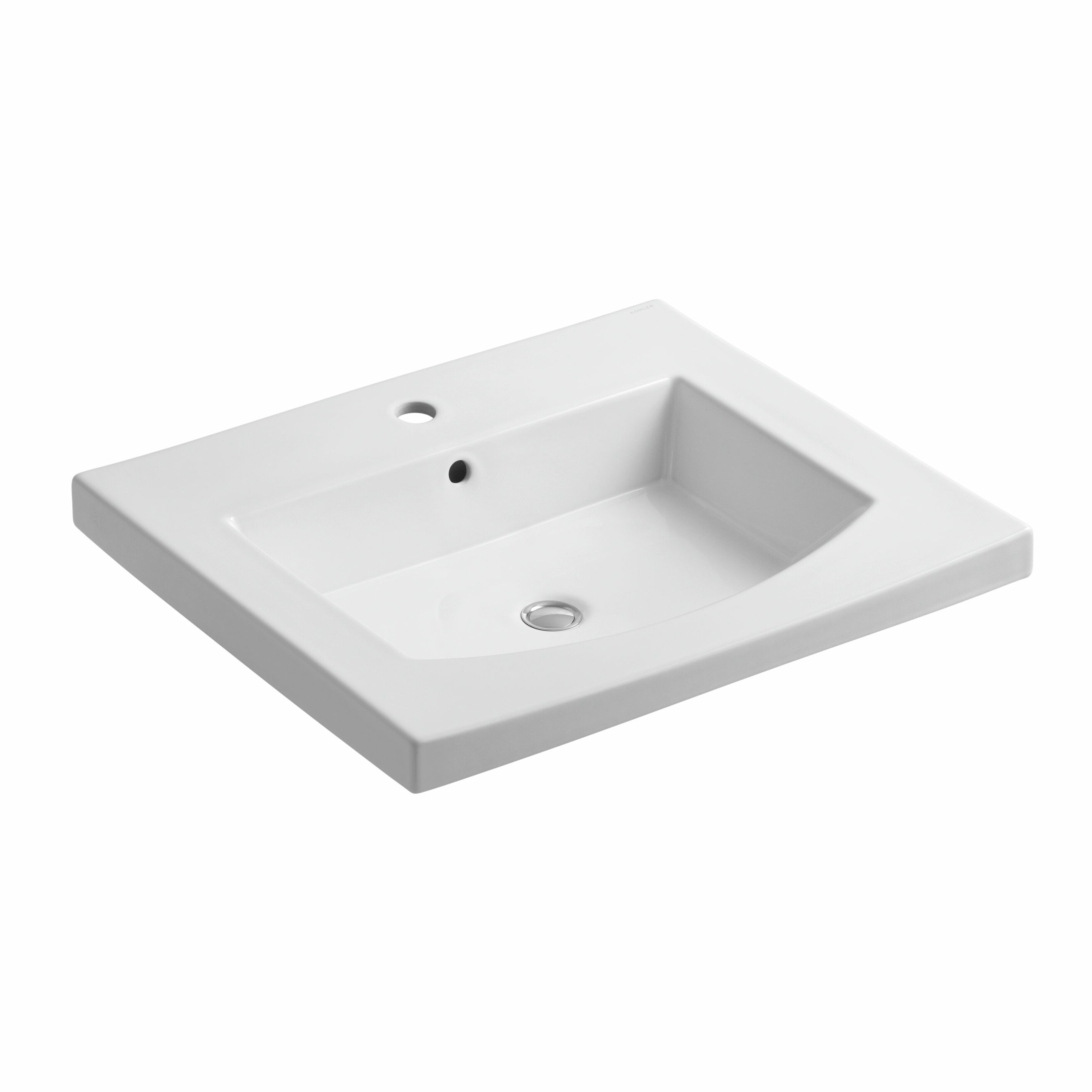 Kohler Persuade Vanity-Top Bathroom Sink with Single Faucet Hole ...