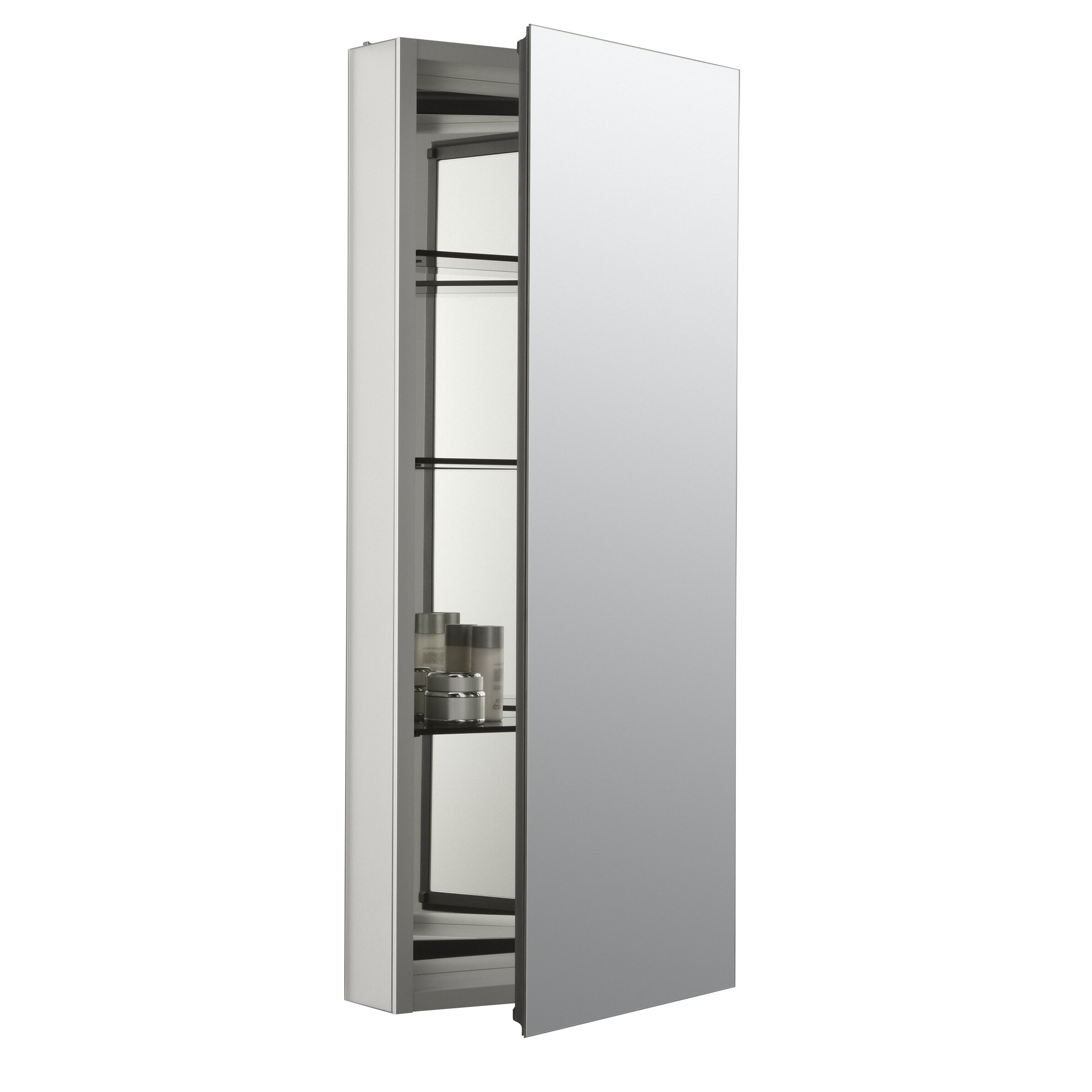 medicine cabinet door only kohler catalan 15 quot w x 36 quot h aluminum single door medicine 7418