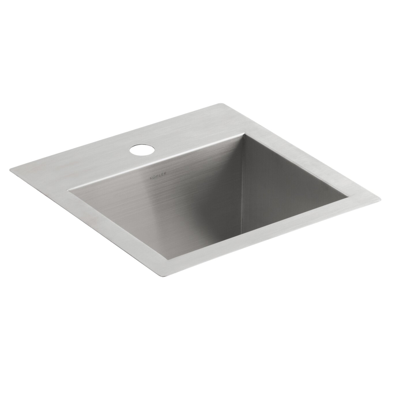 Kohler Vault Sink : Kohler Vault Top-Mount/Under-Mount Bar Sink with Single Faucet Hole ...