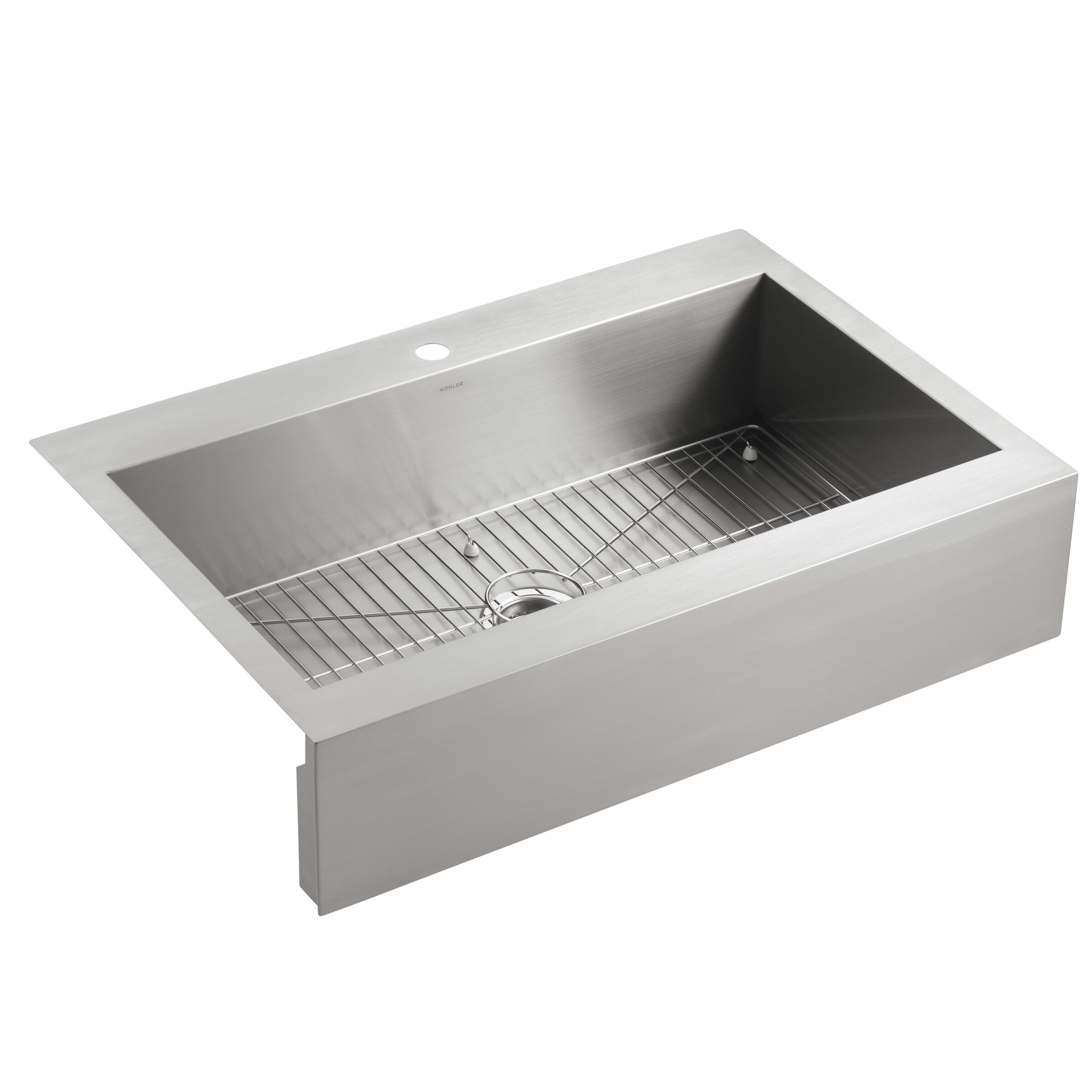 ... Stainless Steel Kitchen Sink with Shortened Apron-Front for 36