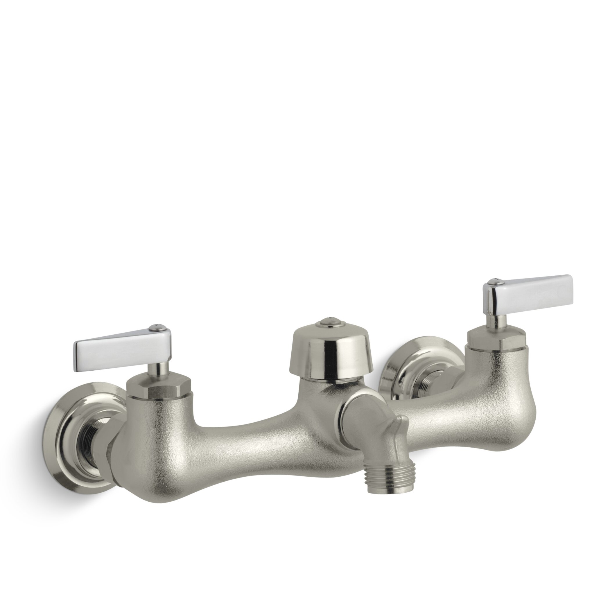 Kohler Knoxford Double Lever Handle Service Sink Faucet With Vacuum Breaker Threaded Spout