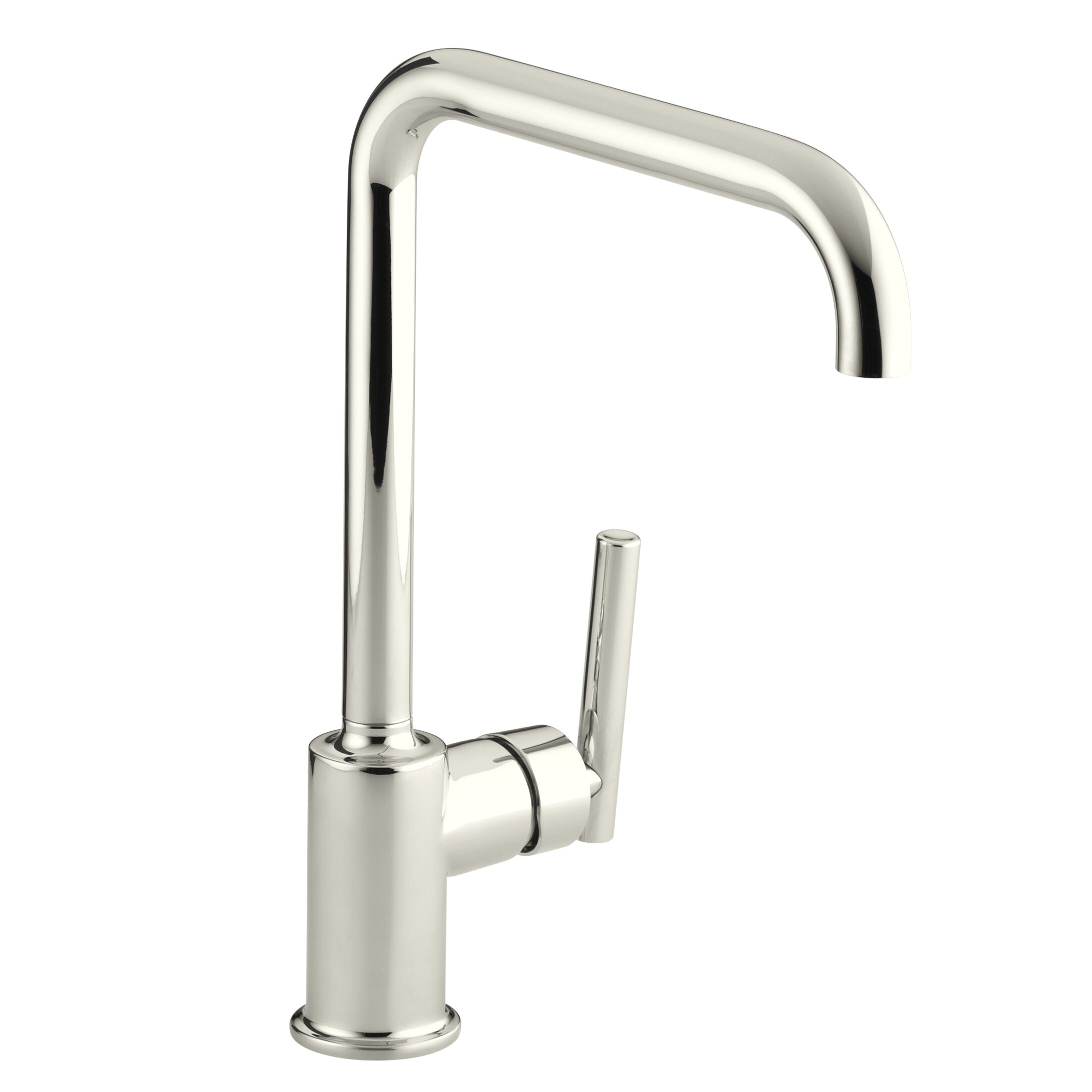 kohler purist single kitchen sink faucet with 8