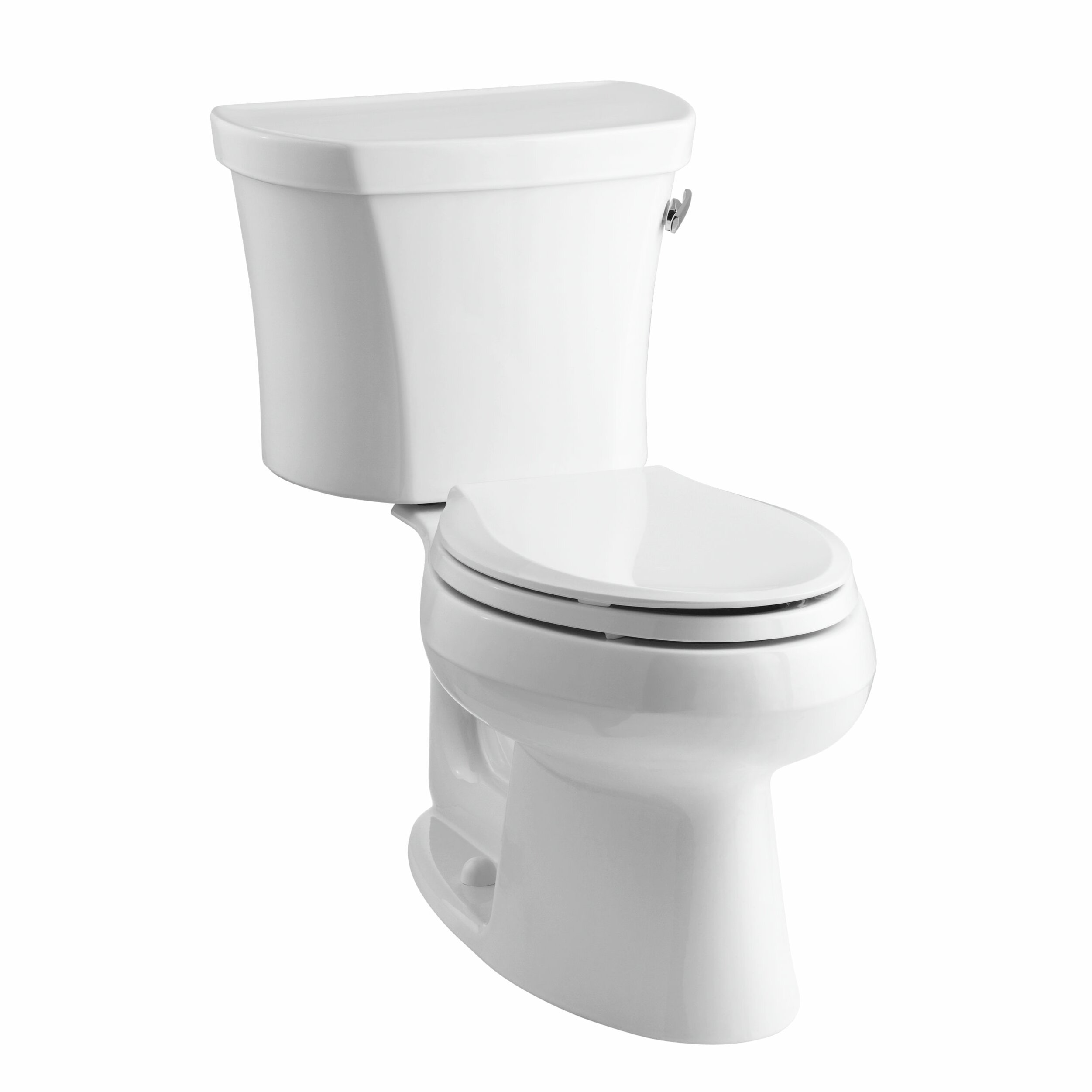 Toilet Flush Cover : Kohler wellworth two piece elongated gpf toilet with