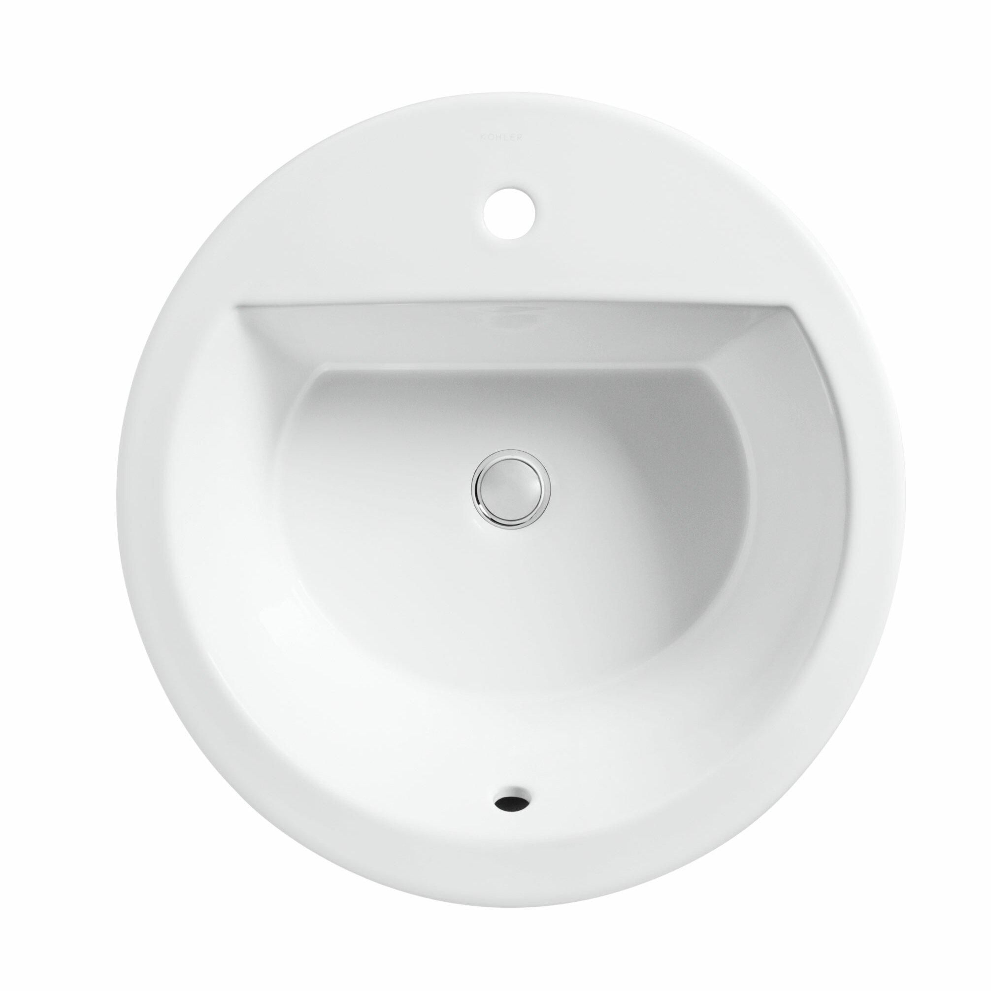 Kohler Bryant Round Drop In Bathroom Sink Amp Reviews Wayfair