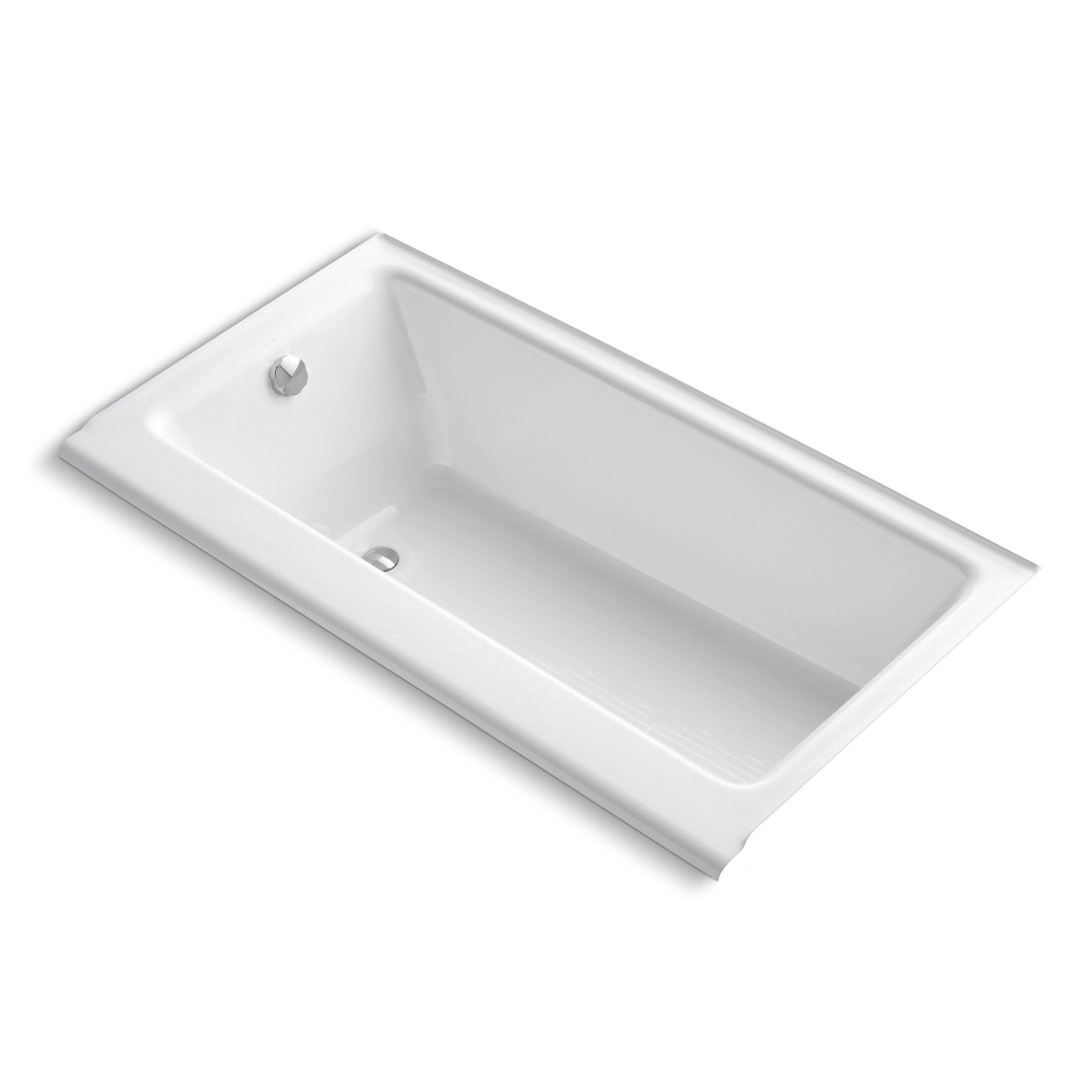 Kohler Highbridge Alcove 60 X 32 Soaking Bathtub Wayfair