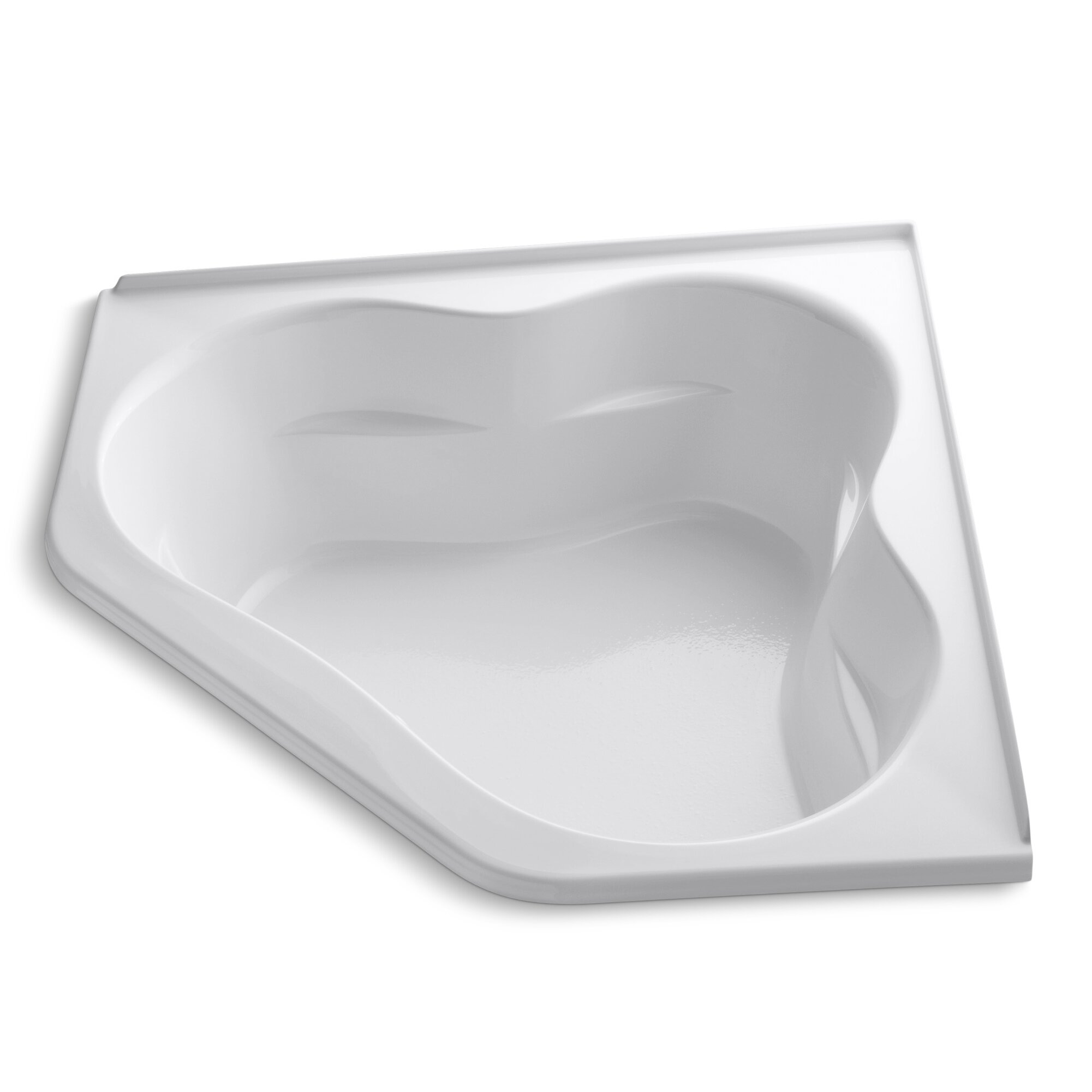 kohler folee 60 x 60 soaking bathtub reviews wayfair