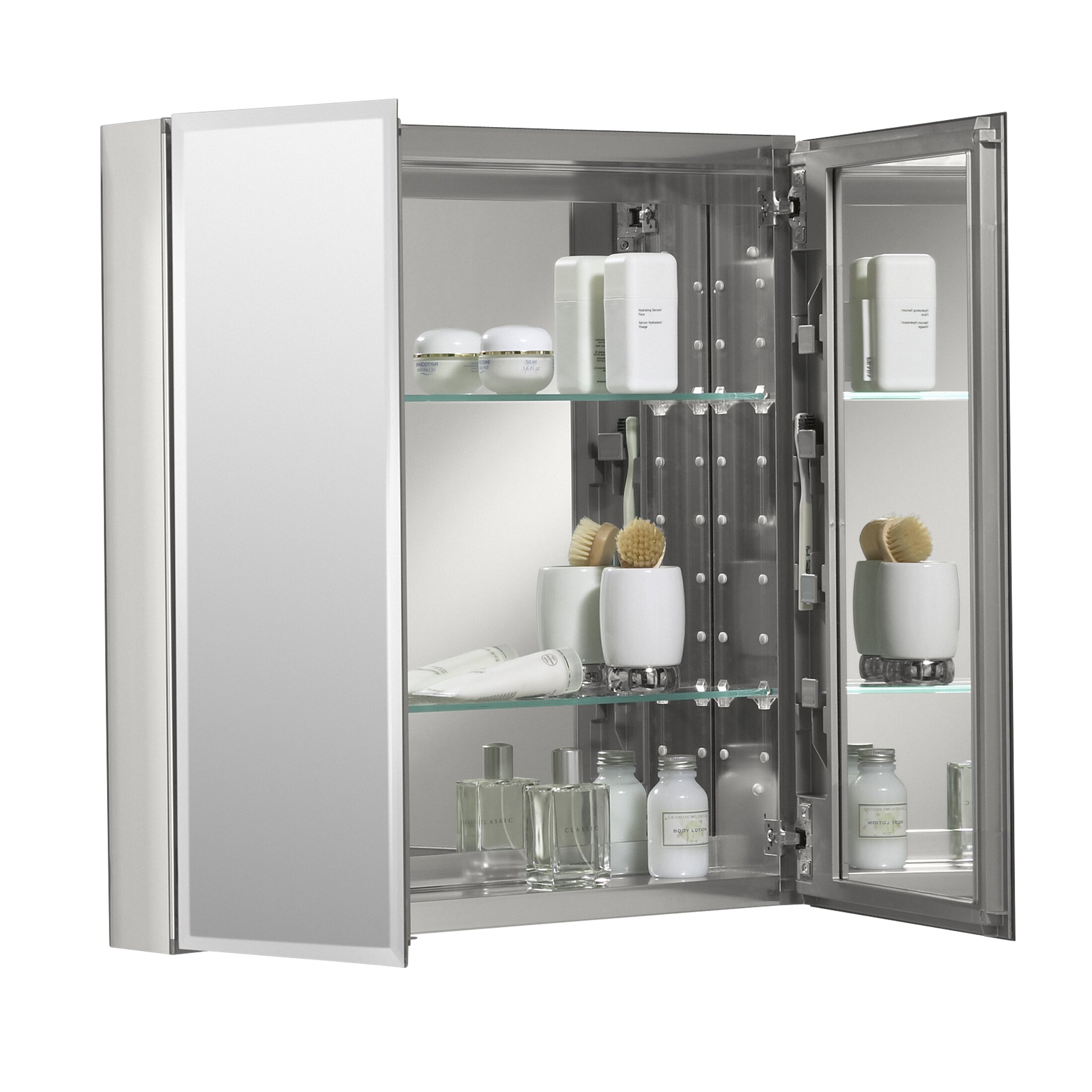 "Kohler 25"" X 26"" Aluminum Mirrored Medicine Cabinet & Reviews"