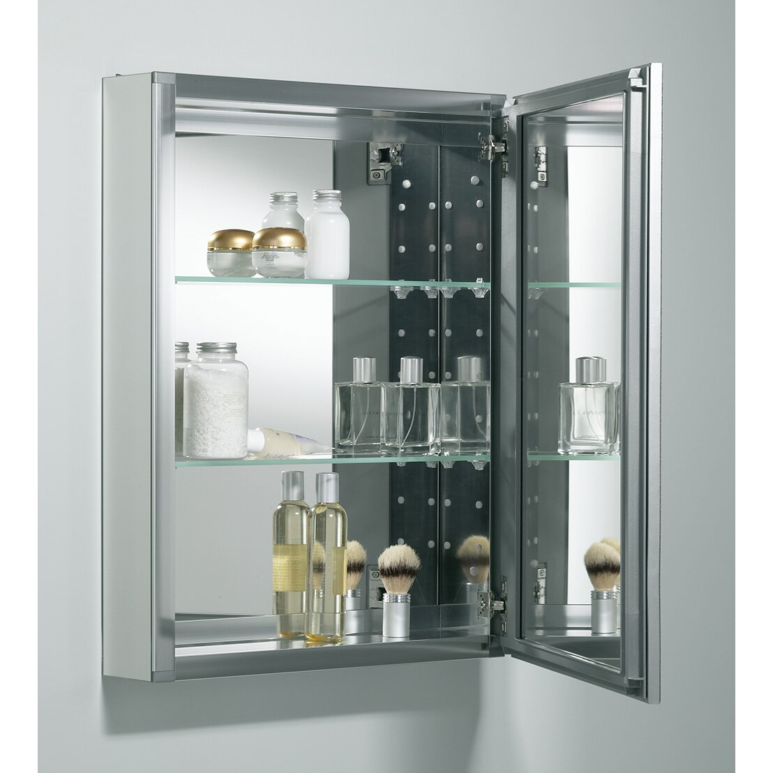 Kohler 20 x 26 aluminum mirrored medicine cabinet for Medicine cabinets