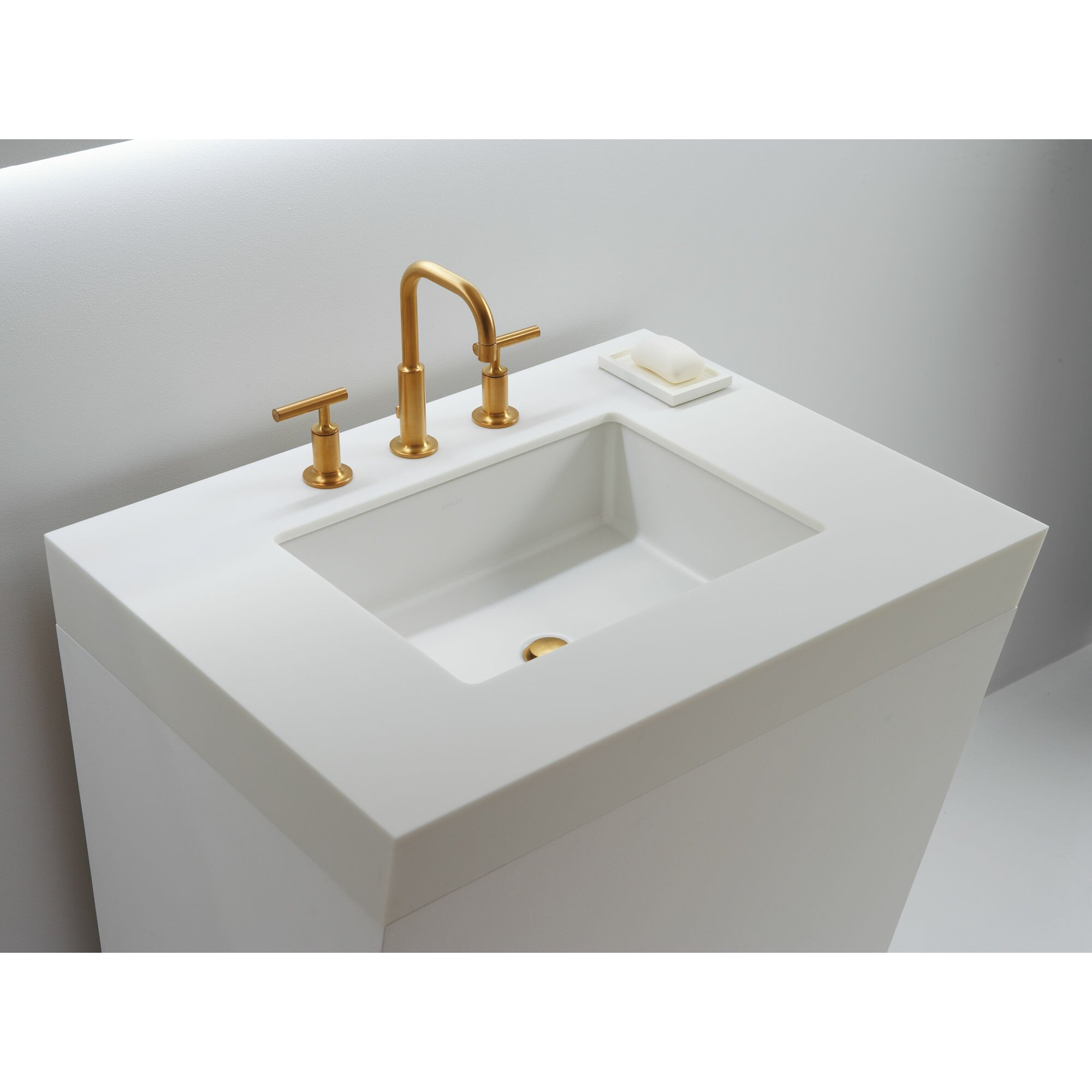 undermount bathroom sink kohler verticyl rectangular undermount bathroom sink with 14858