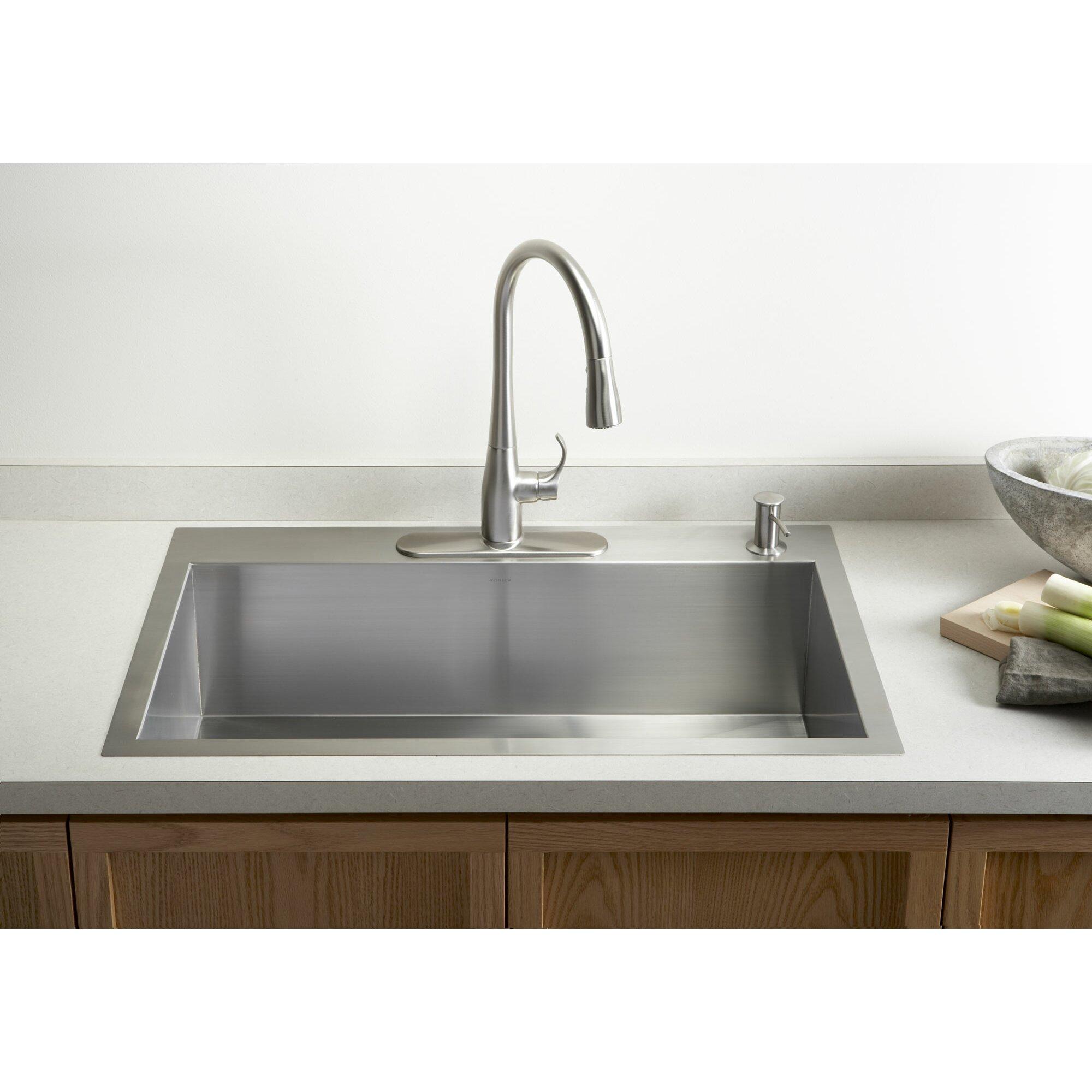 Top Mount Farmhouse Sink White : ... Stainless Steel Kitchen Sinks 7 Sinks Top Mount Photos House. Yive.co
