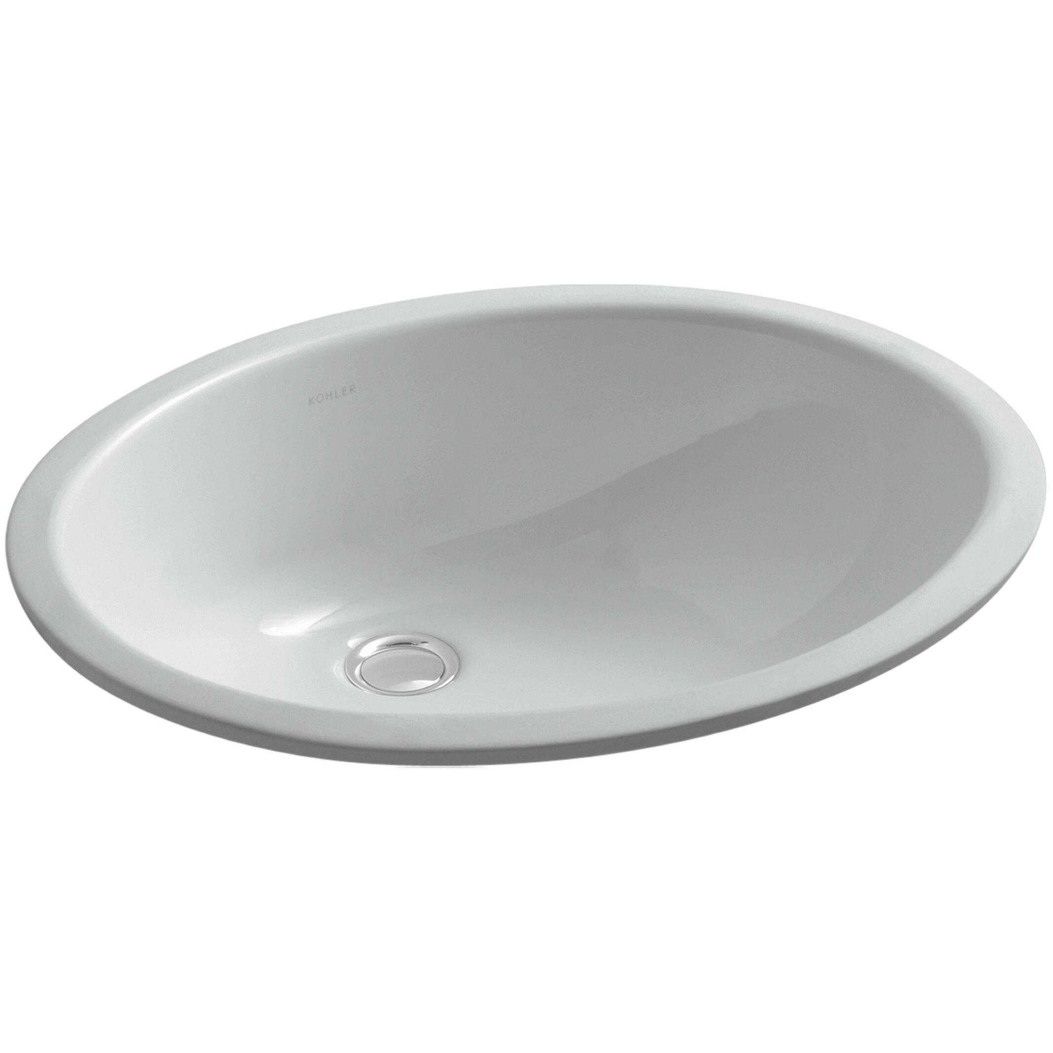 Kohler Caxton Undermount Bathroom Sink with Overflow and ...